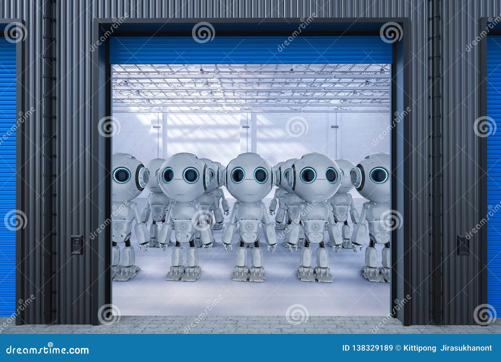 机器人在工厂
