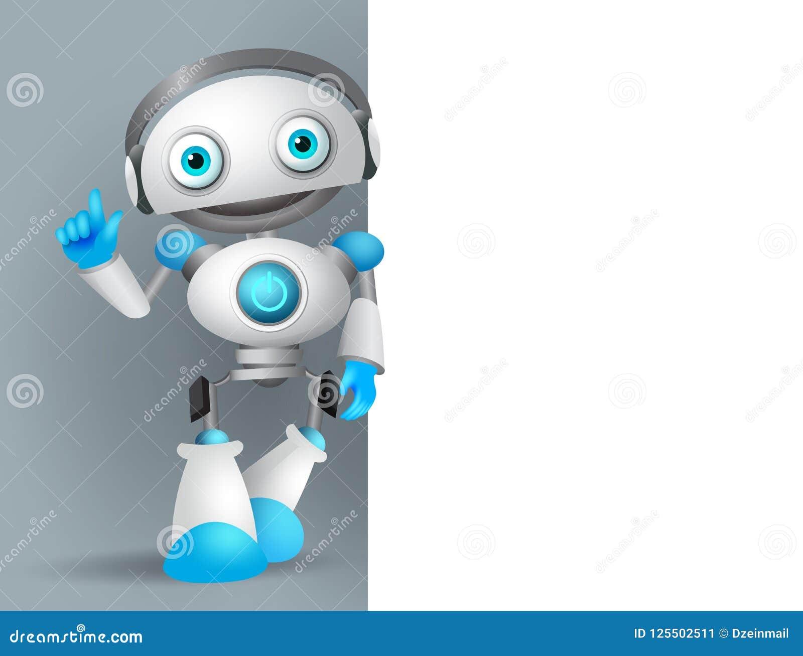 机器人字符传染媒介例证身分,当解释信息时