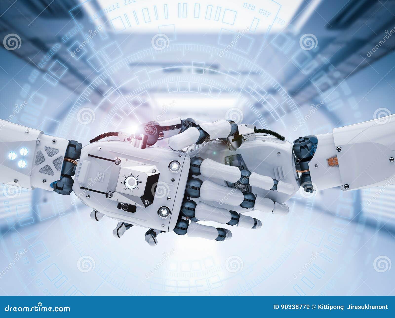 机器人手或靠机械装置维持生命的人手震动