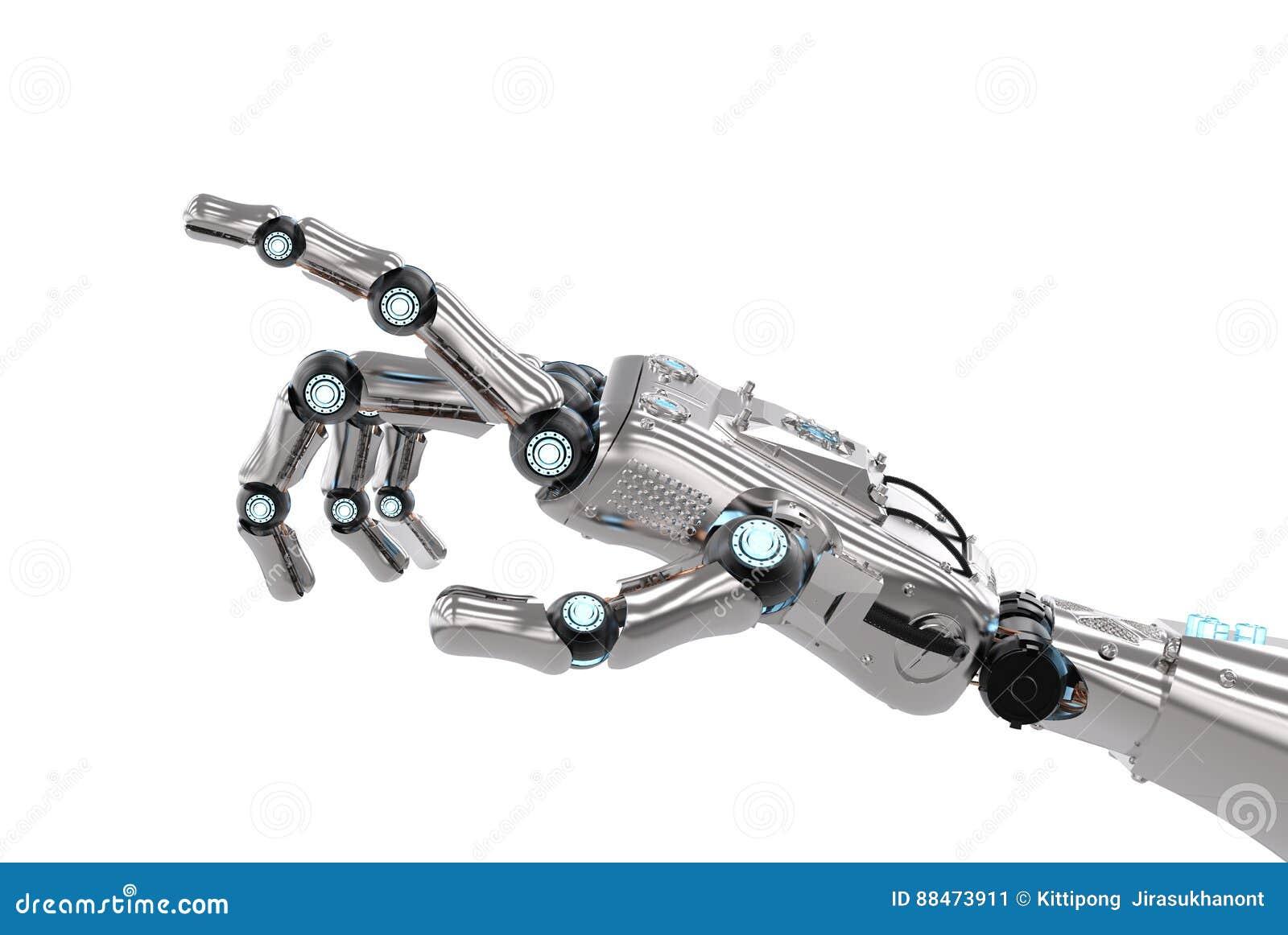 机器人手指向