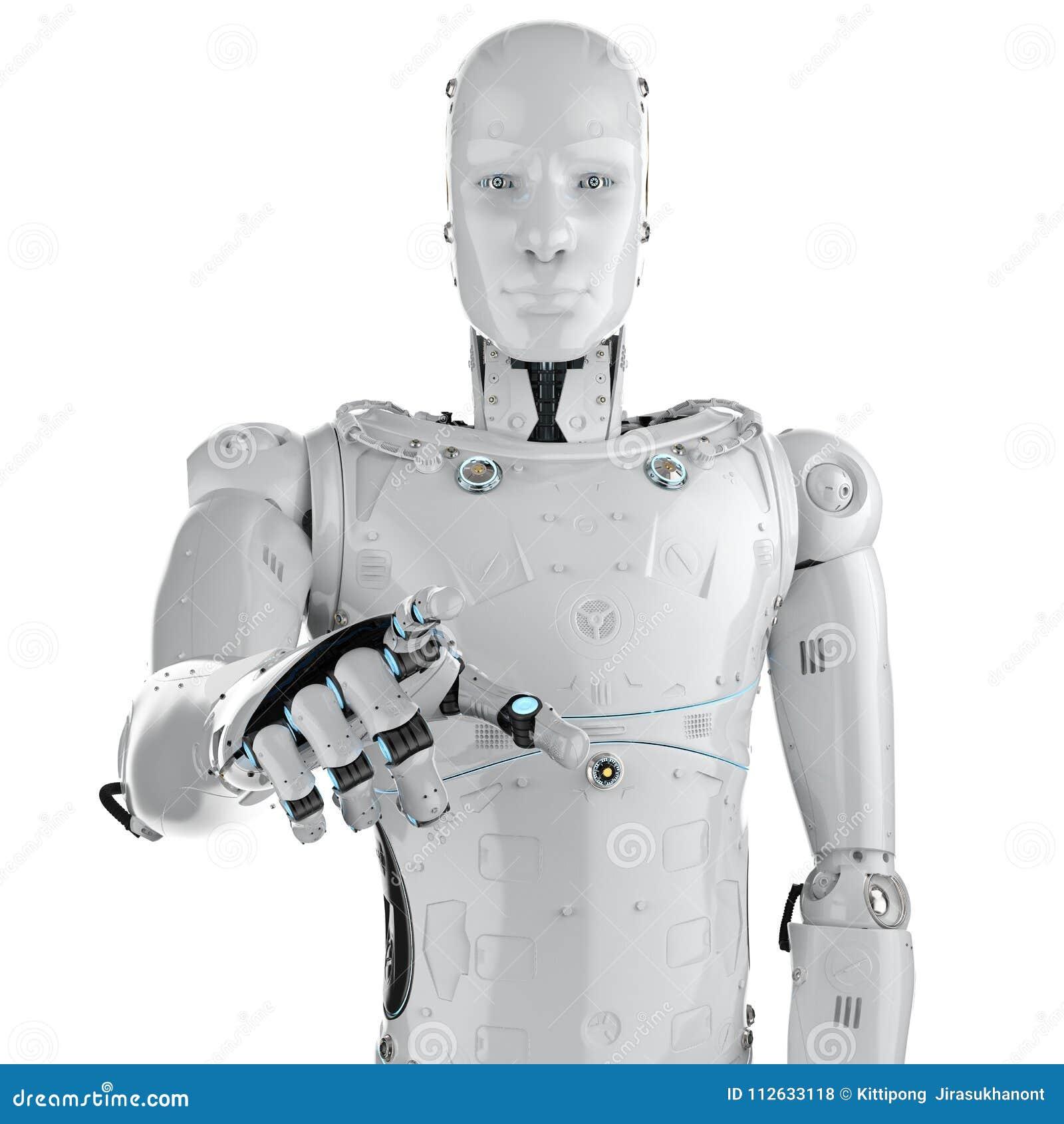 机器人手指点