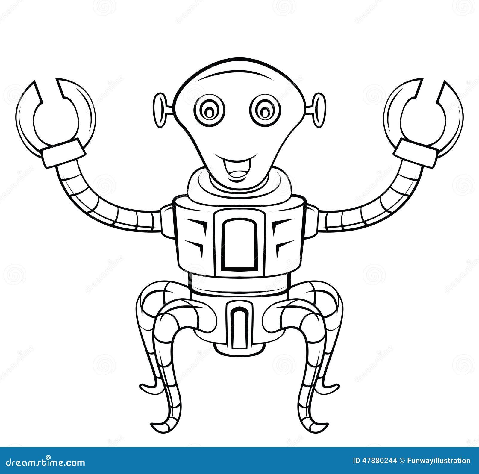 机器人技术eps 10例证设计.