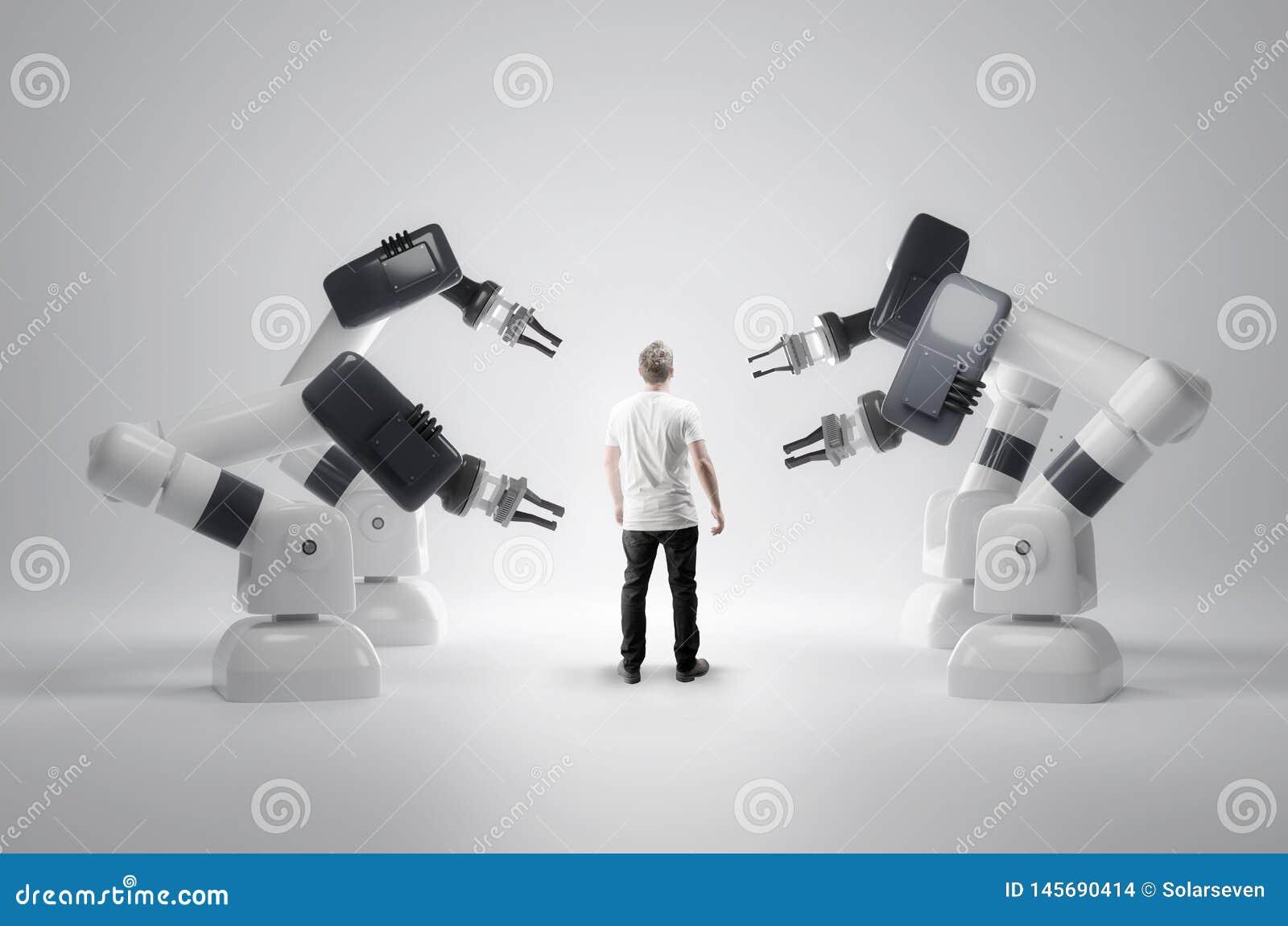 机器人机器和人