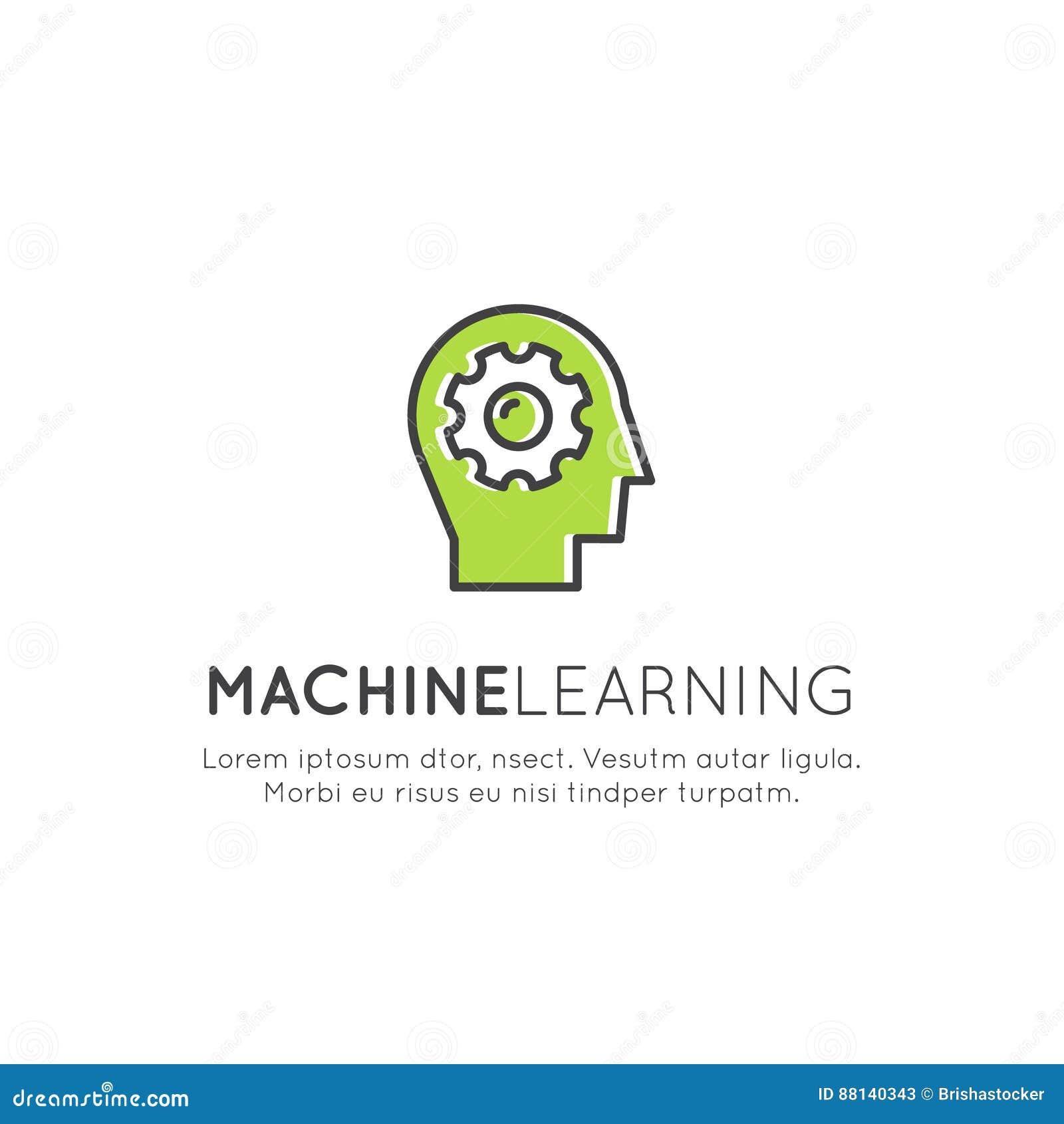 机器学习,人工智能,虚拟现实,未来EyeTap技术的例证概念