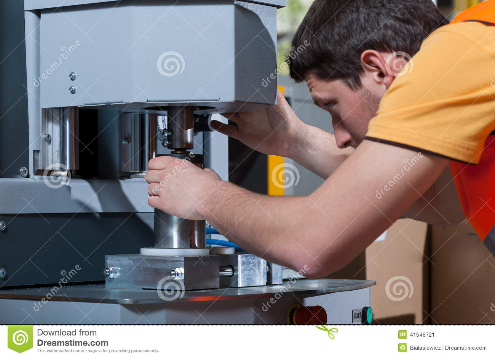 机器操作员在工作