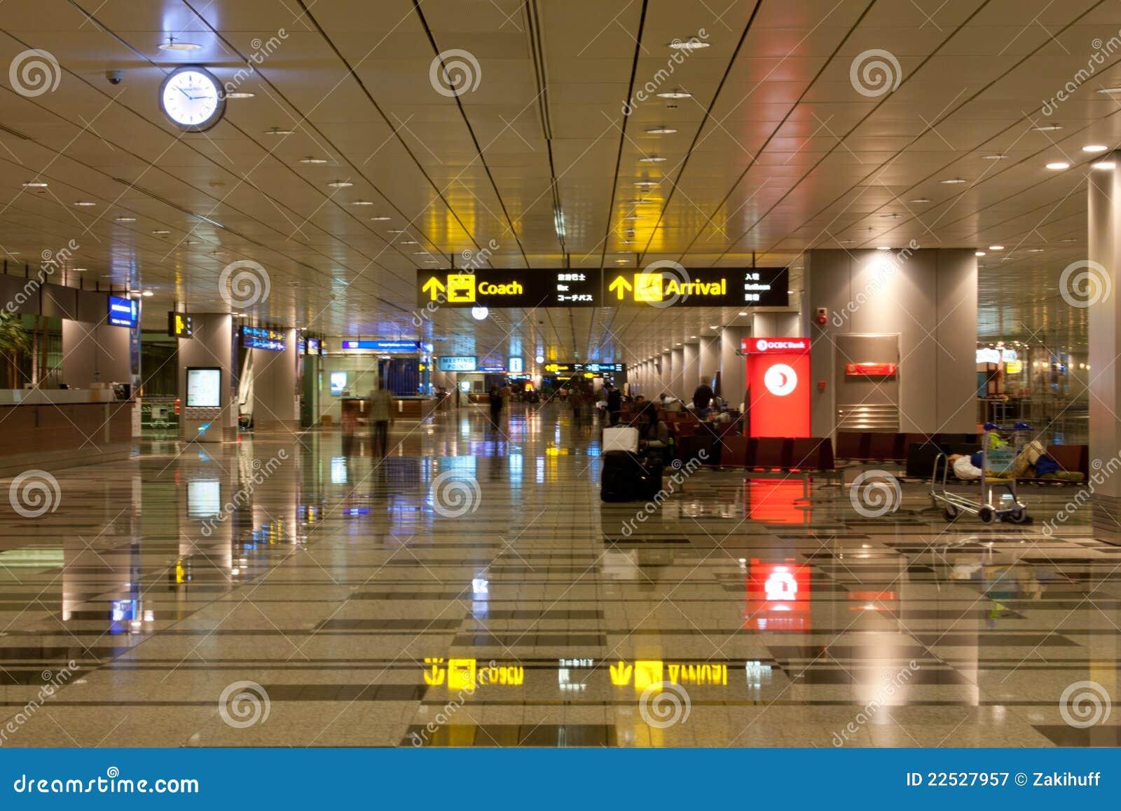 机场到达changi大厅新加坡
