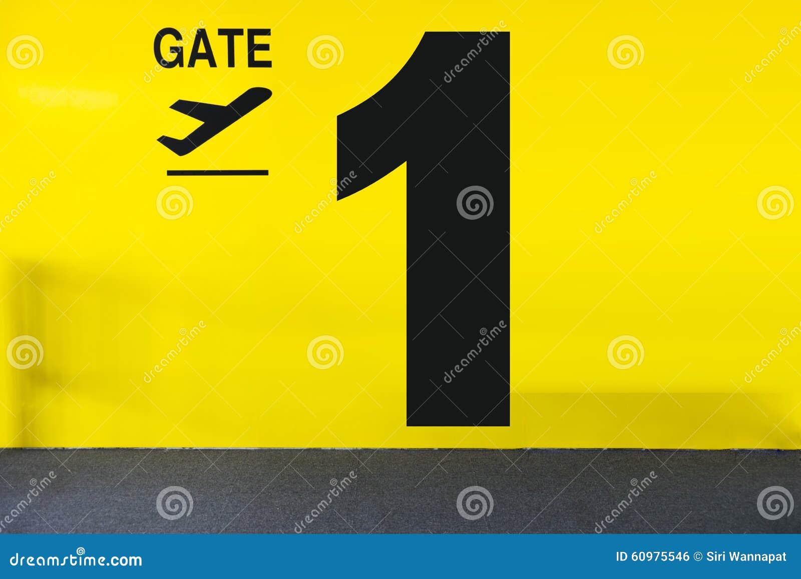 门标衹�c_机场与数字的门标志.
