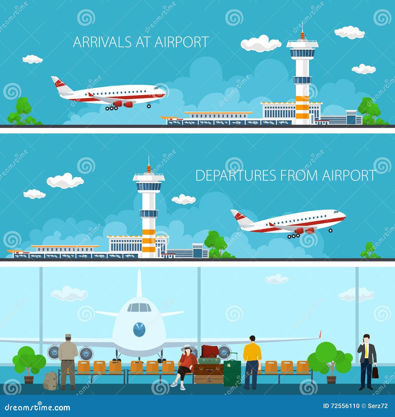 机场水平的横幅