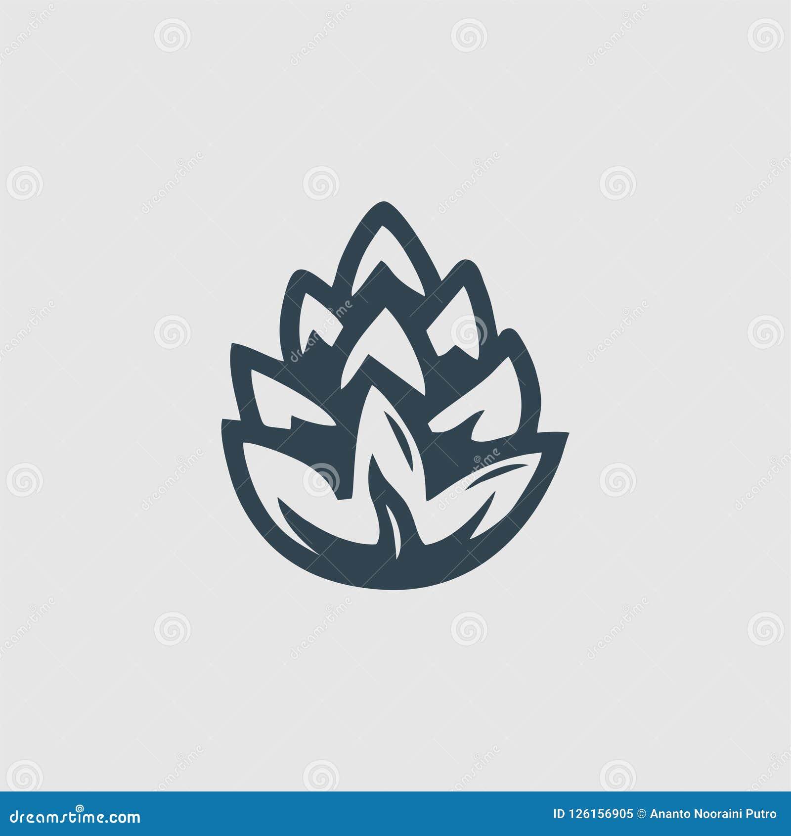 杉木组合图案商标启发