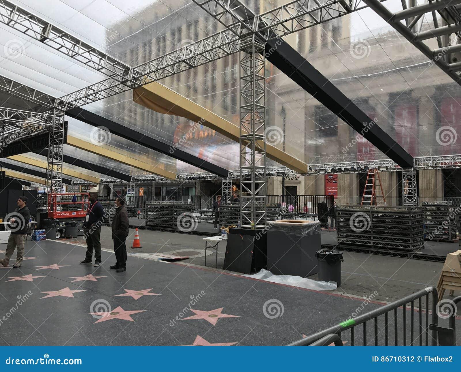 洛杉矶- 2月21 :在杜比剧院的奥斯卡准备, 2017年在好莱坞,洛杉矶,加利福尼亚