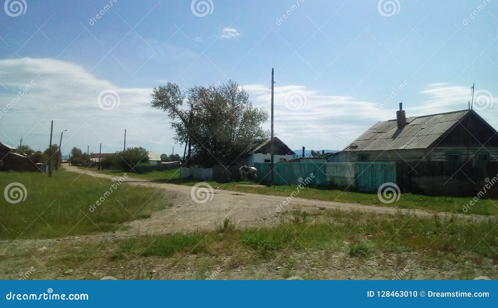 村庄在西伯利亚