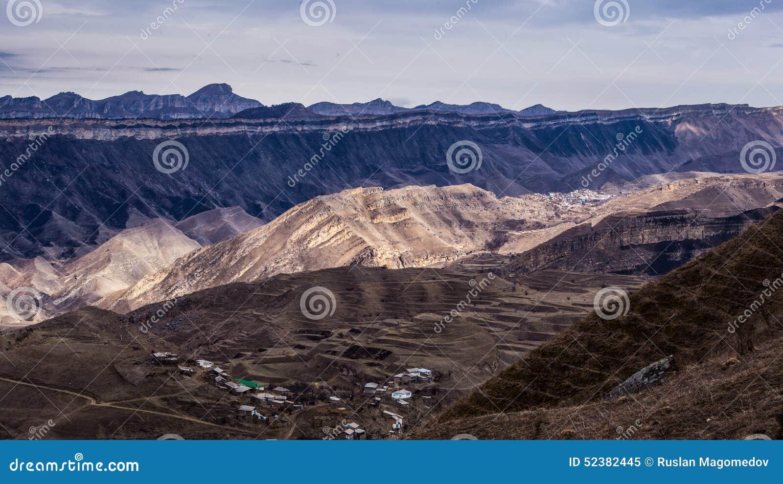 村庄Chukna,达吉斯坦共和国