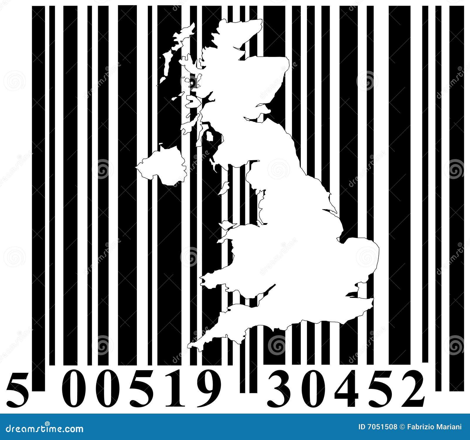 条形码英国巨大分级显示