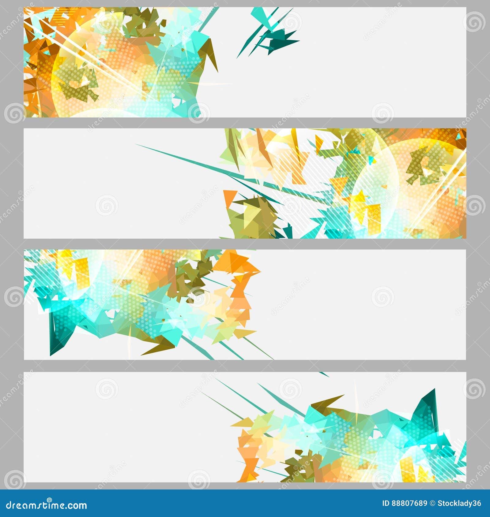 条纹和爆炸横幅集合