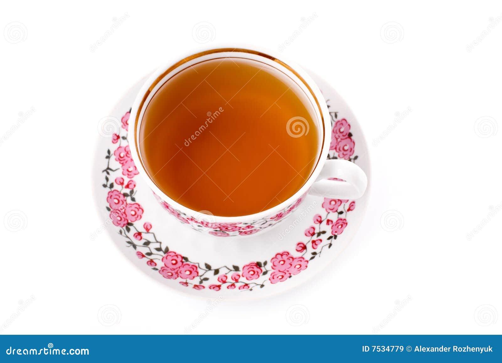 杯子典雅的瓷茶