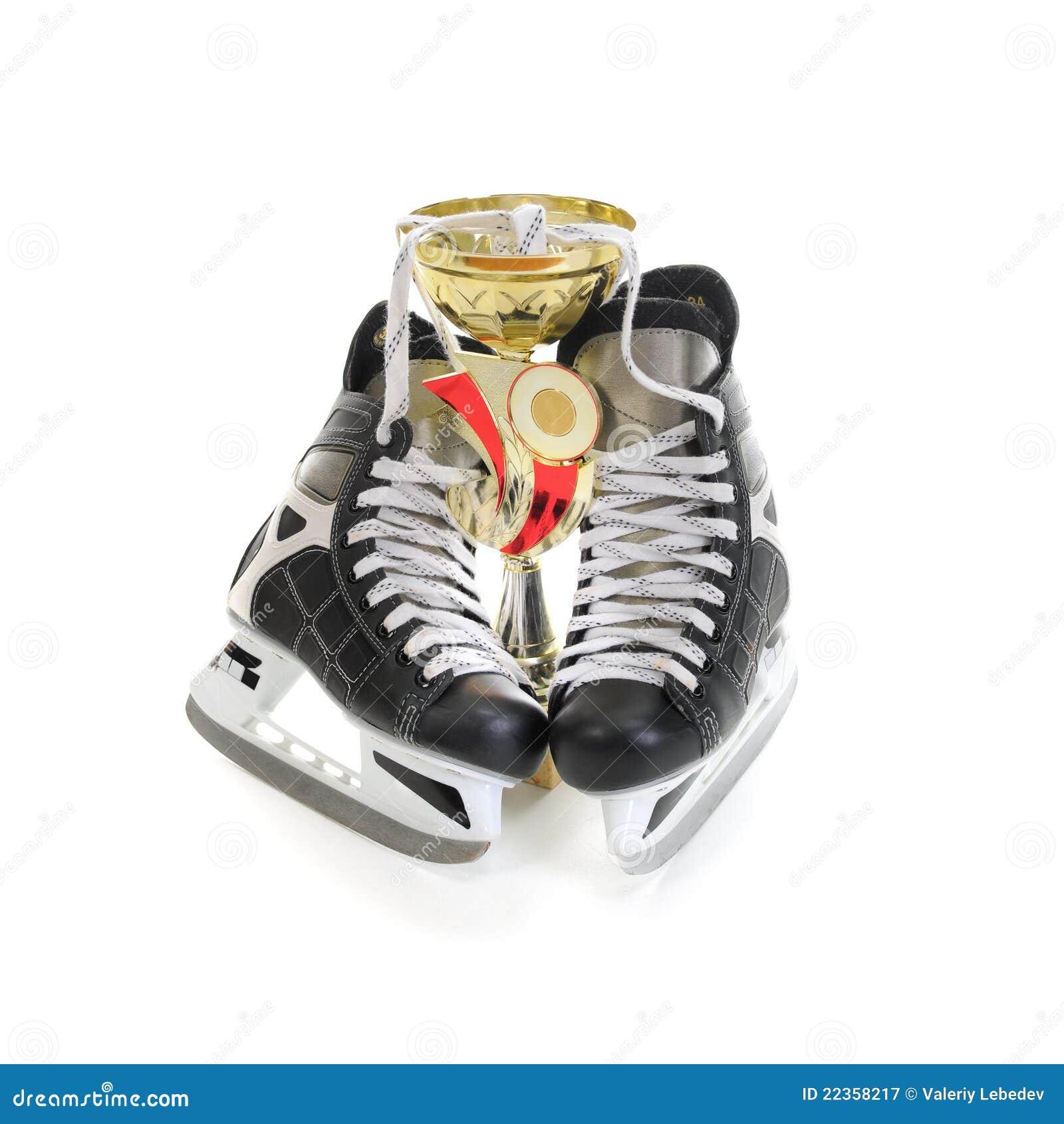 杯子曲棍球冰鞋赢利地区