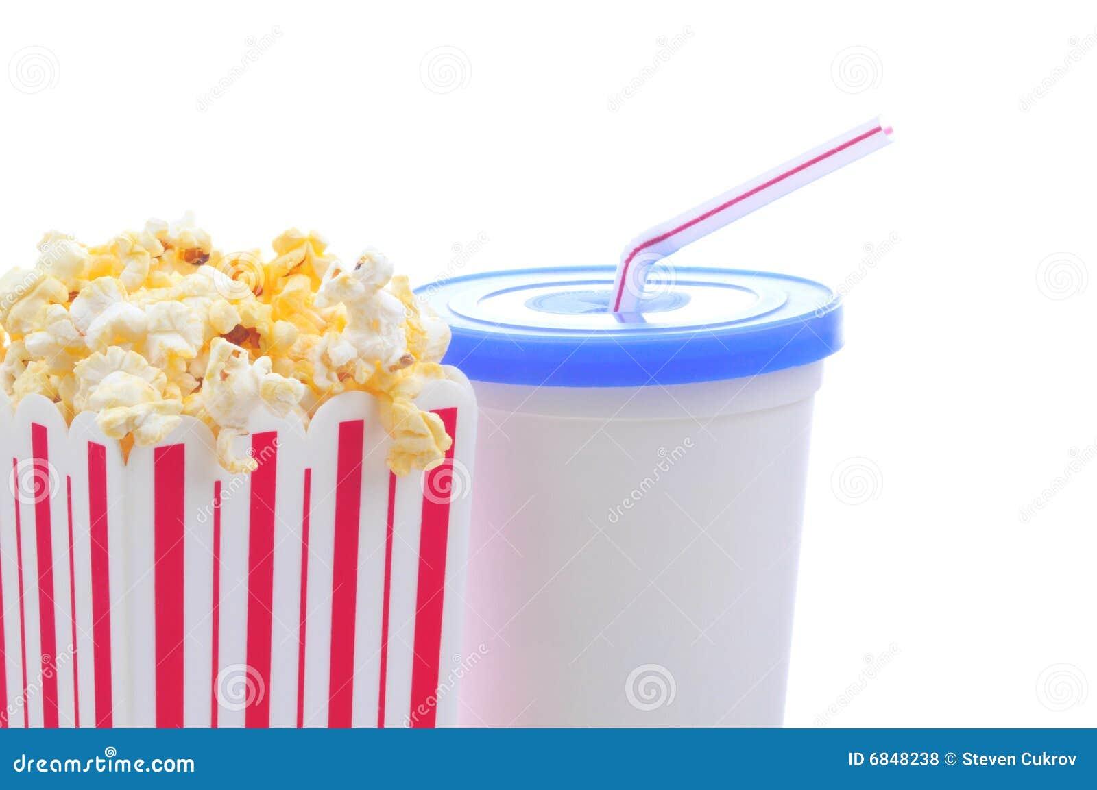 杯子玉米花碳酸钠秸杆