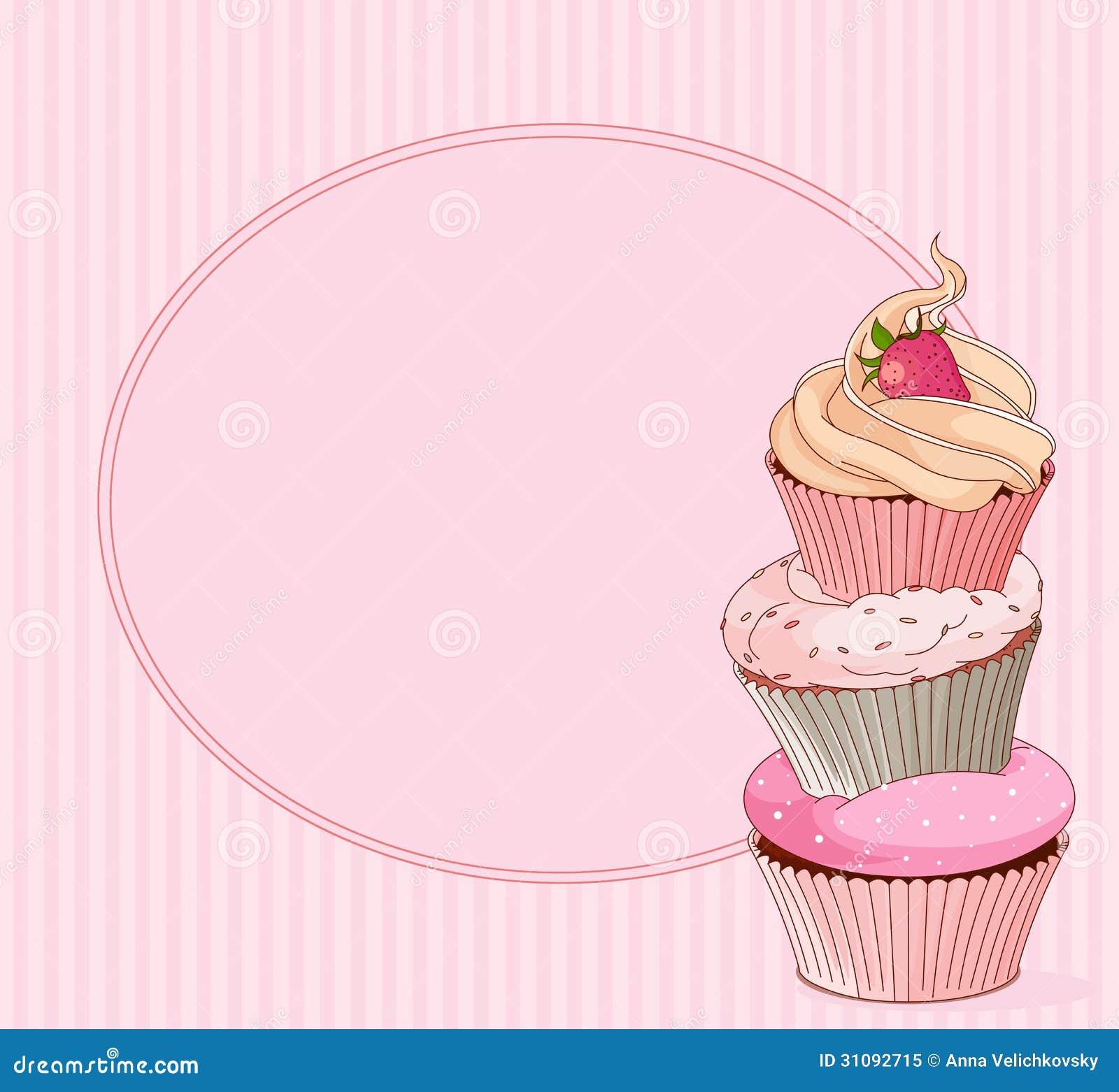 杯形蛋糕地方卡片