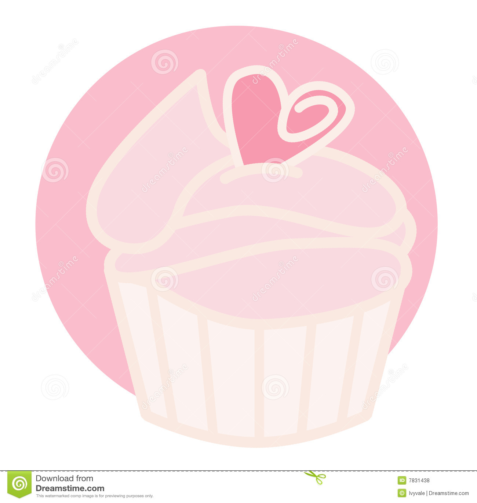 杯形蛋糕粉红色
