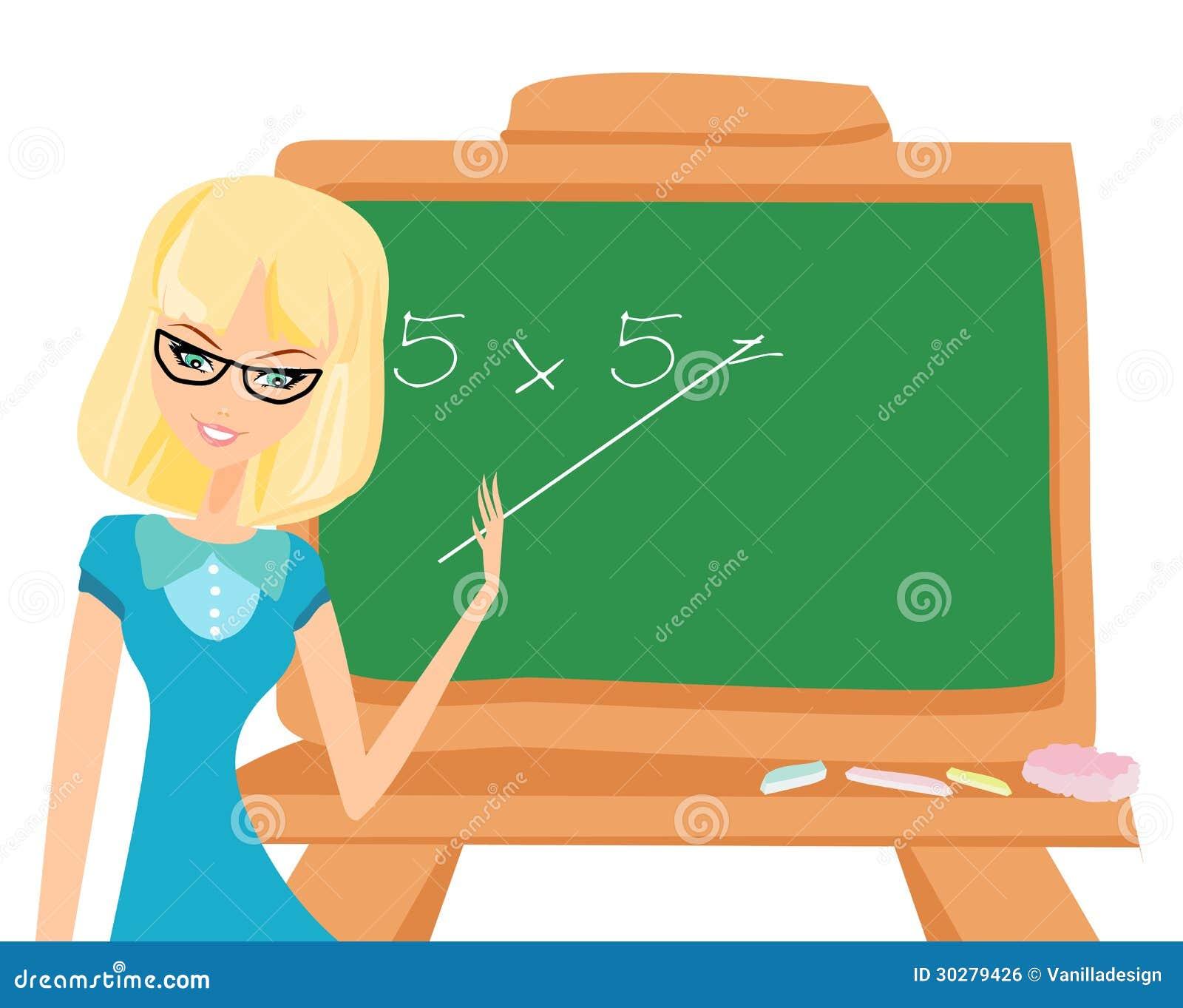 黑板的老师
