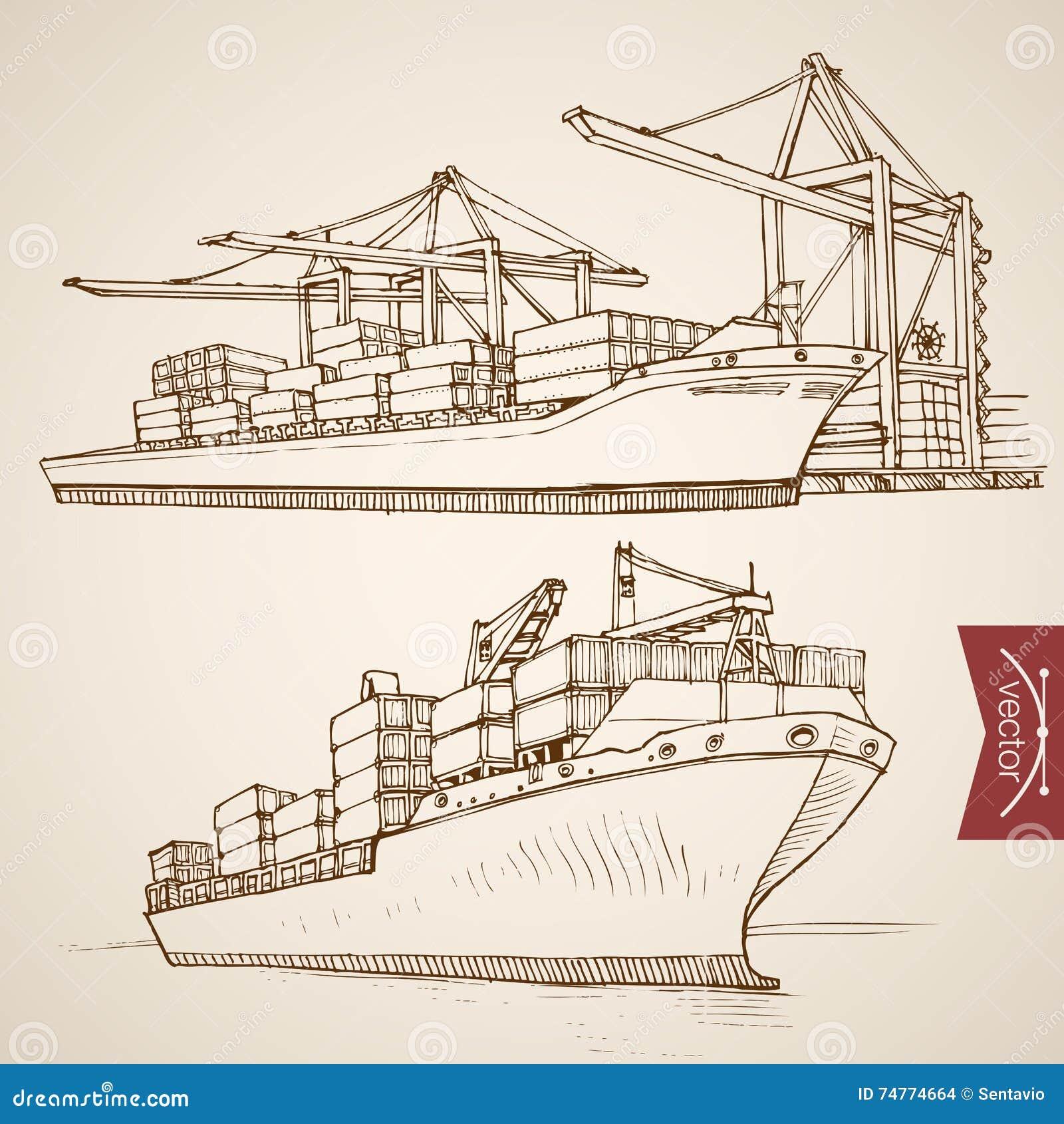 板刻葡萄酒手拉的传染媒介船货物骗局