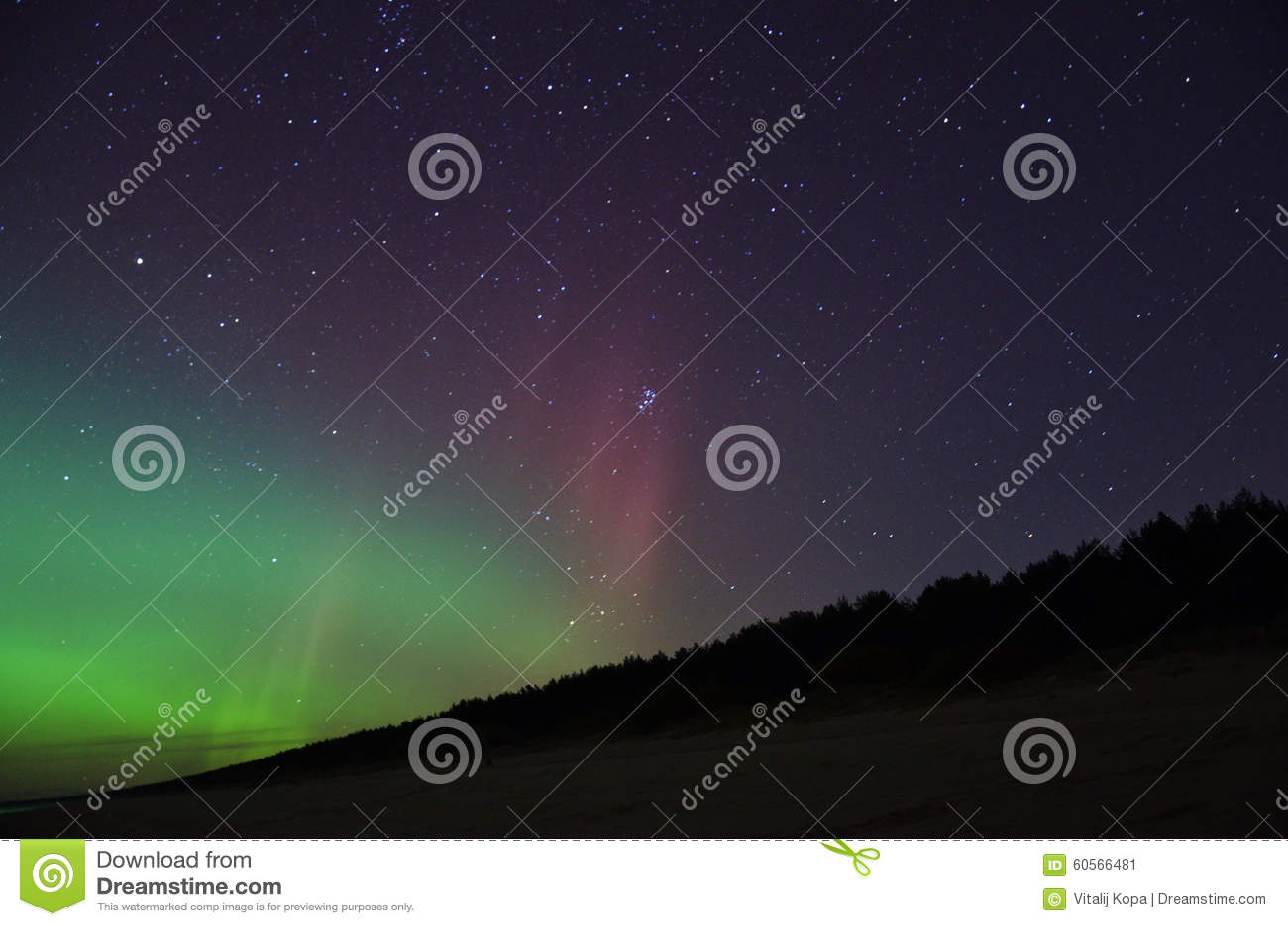 极光borealis极光和星