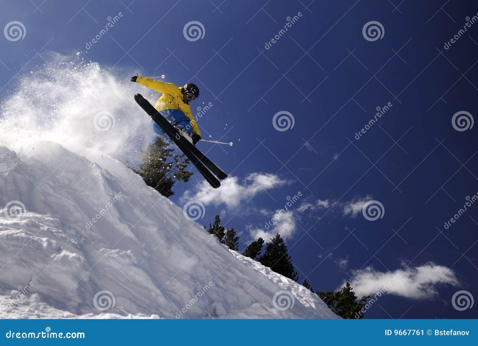 极其滑雪者