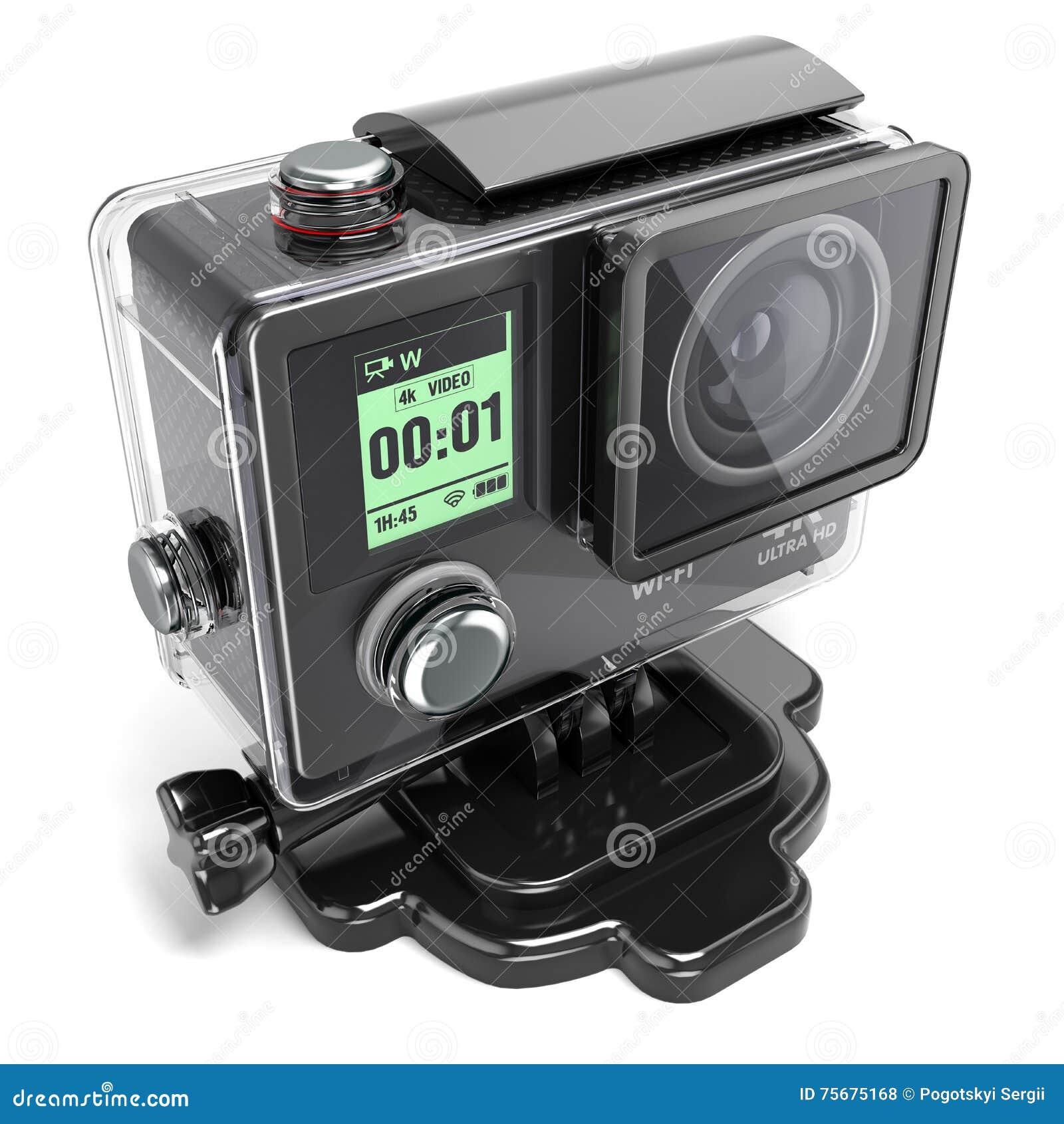 极端录影记录的行动照相机4K在一个塑料盒3