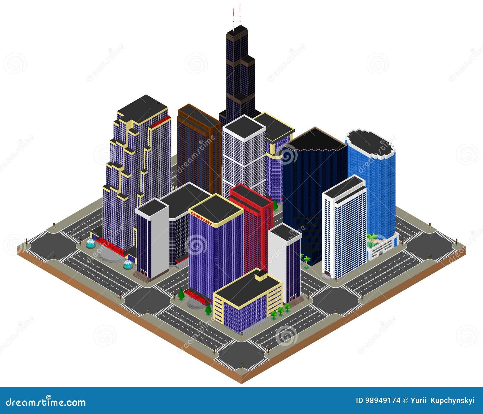 结构商务中心例证主题 摩天大楼 的主动脉