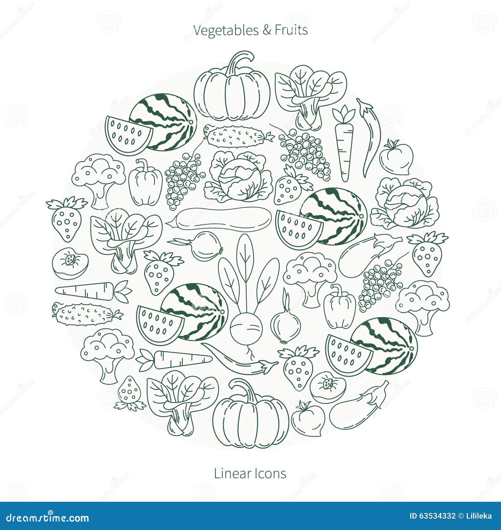 水果和蔬菜的汇集以圈子的形式图片