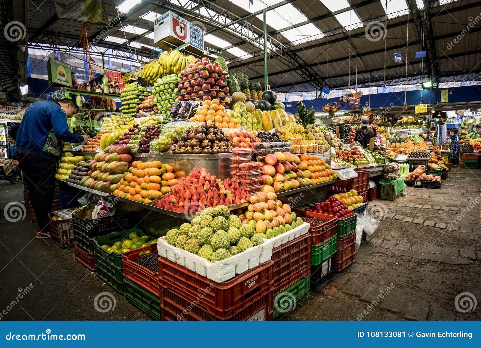 果子和蔬菜批发市场, Paloquemao,波哥大哥伦比亚