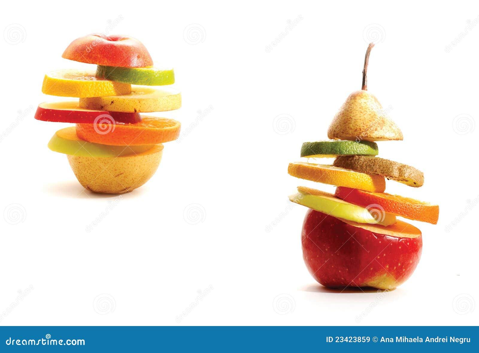 柠檬另外油桃猕猴桃分层堆积象苹果做的果子橙色美食梨的桃子.石灰潼关简介图片