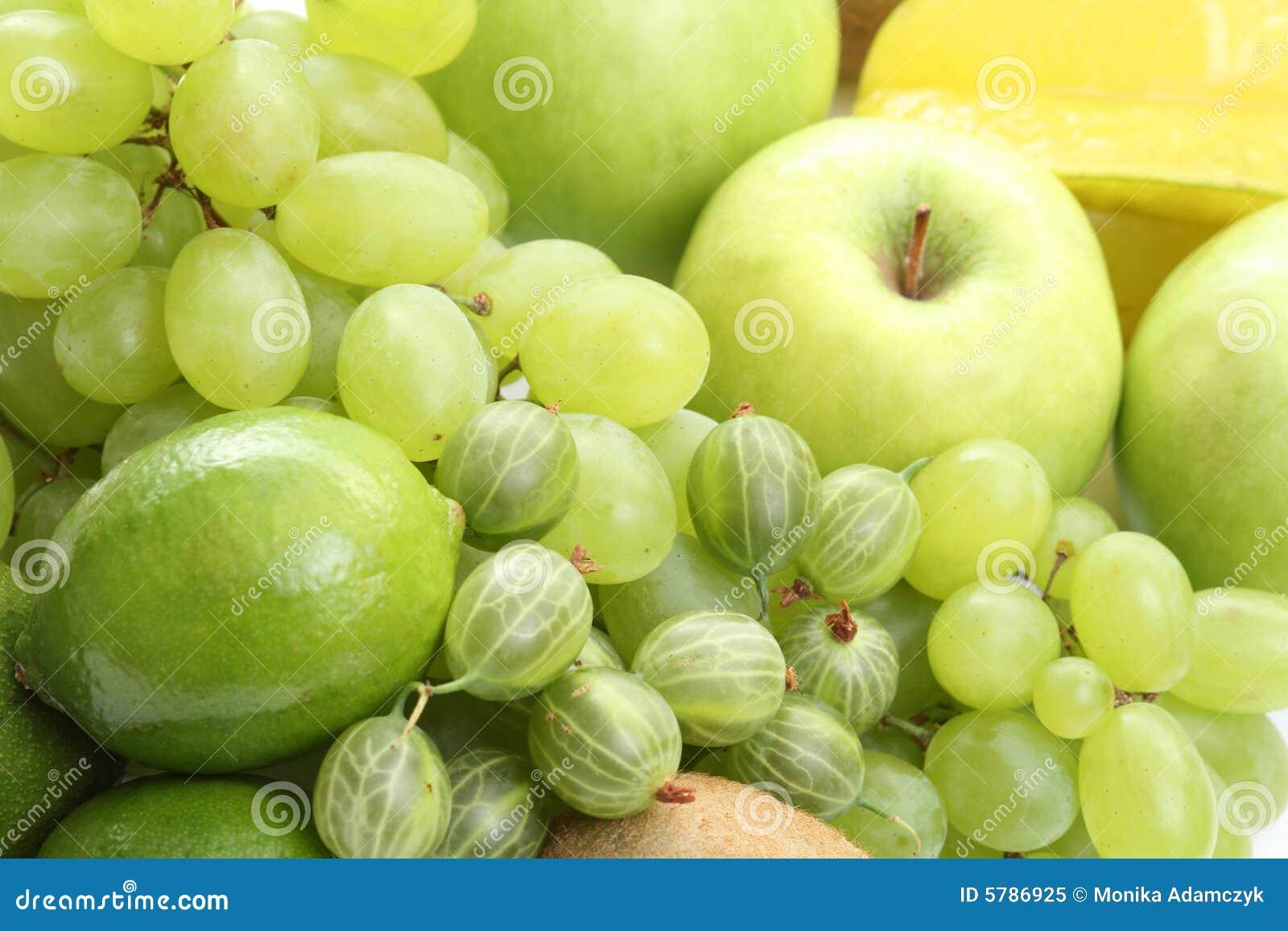 果子绿色多种