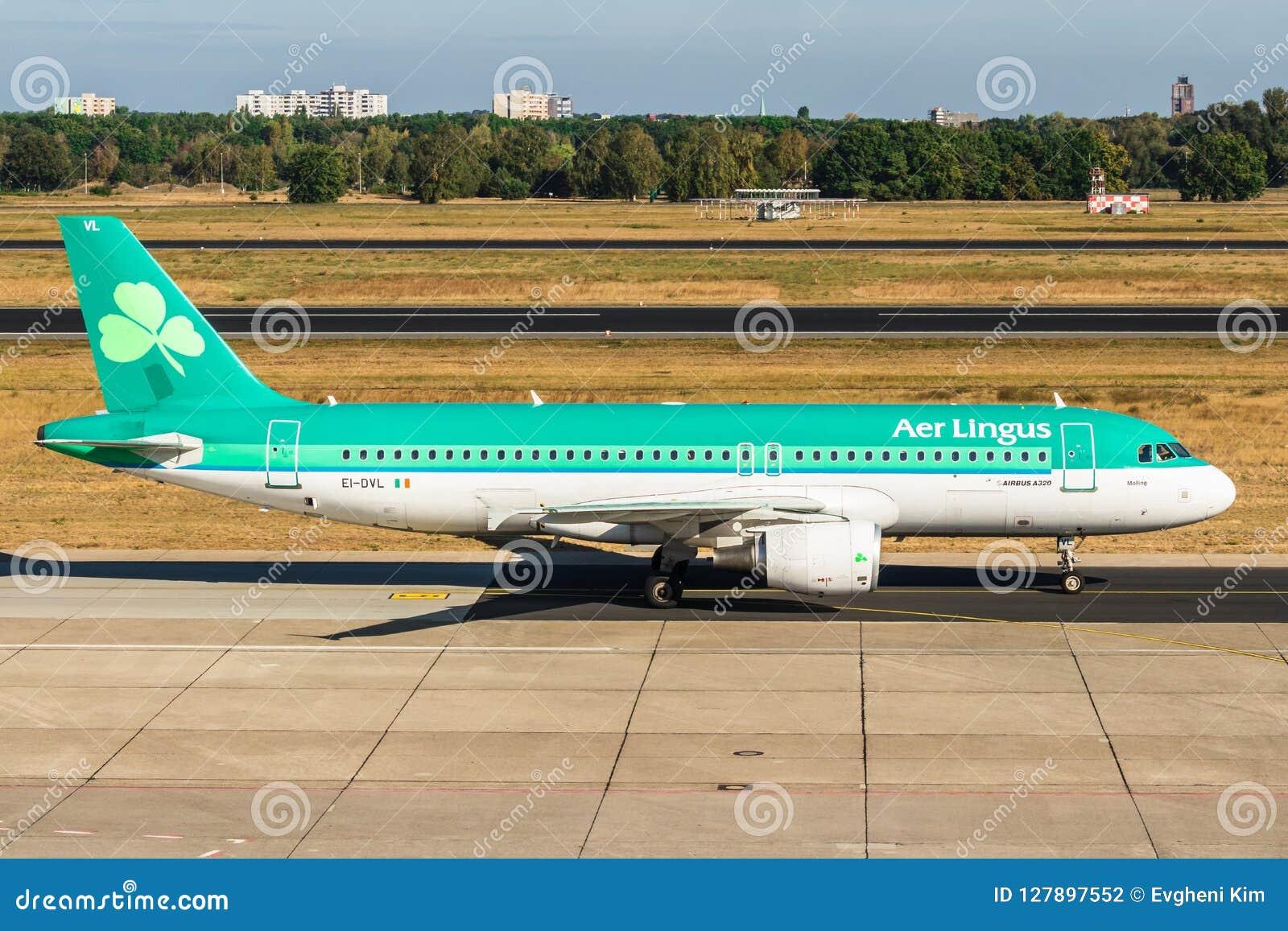 柏林,德国9月7日2018年:爱尔兰航空,空中客车A320-214 a