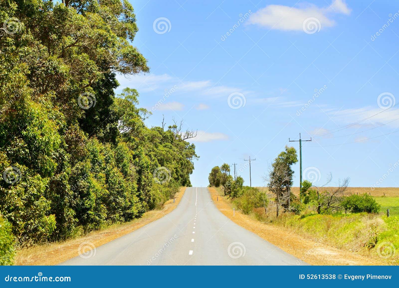 柏油路在澳大利亚乡区