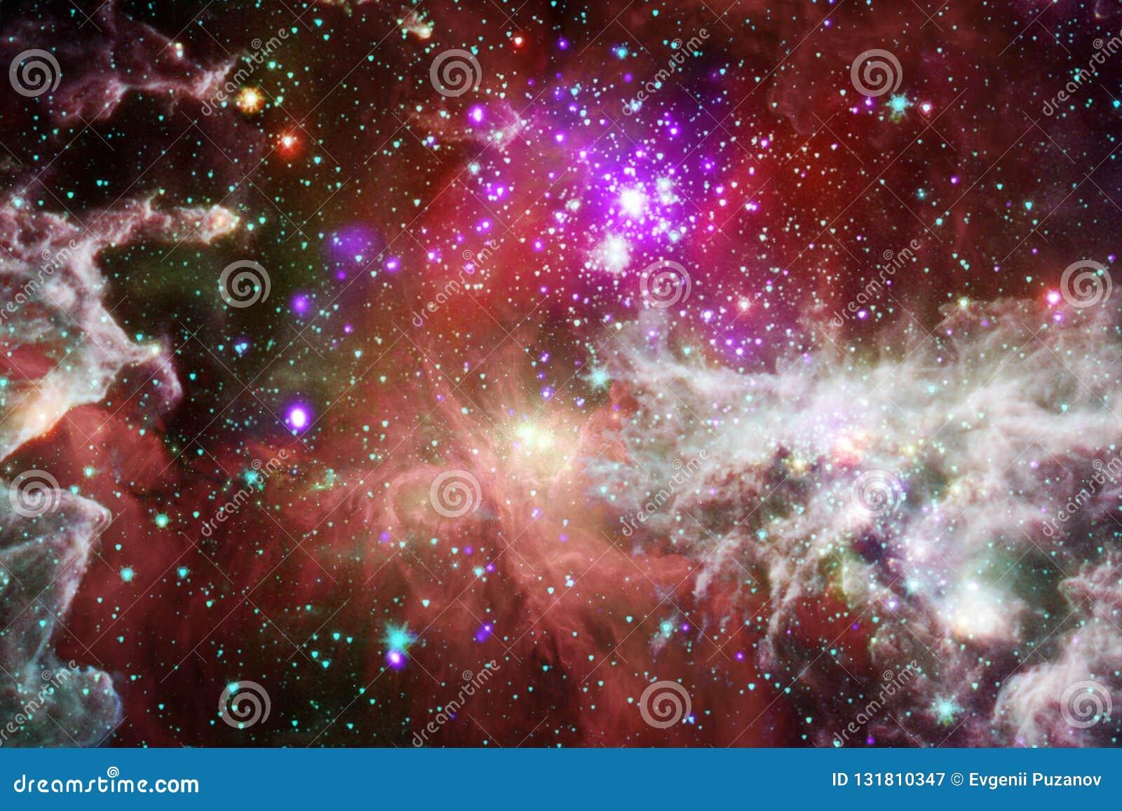 某处美丽的星系在外层空间 美国航空航天局装备的这个图象的元素