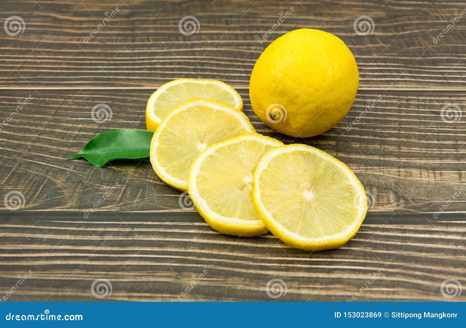 柠檬新鲜的射击在演播室