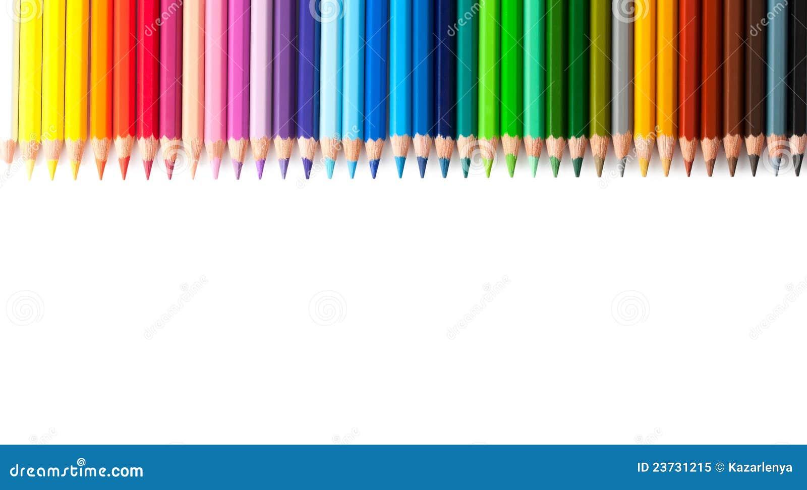 查出的多彩多姿的铅笔