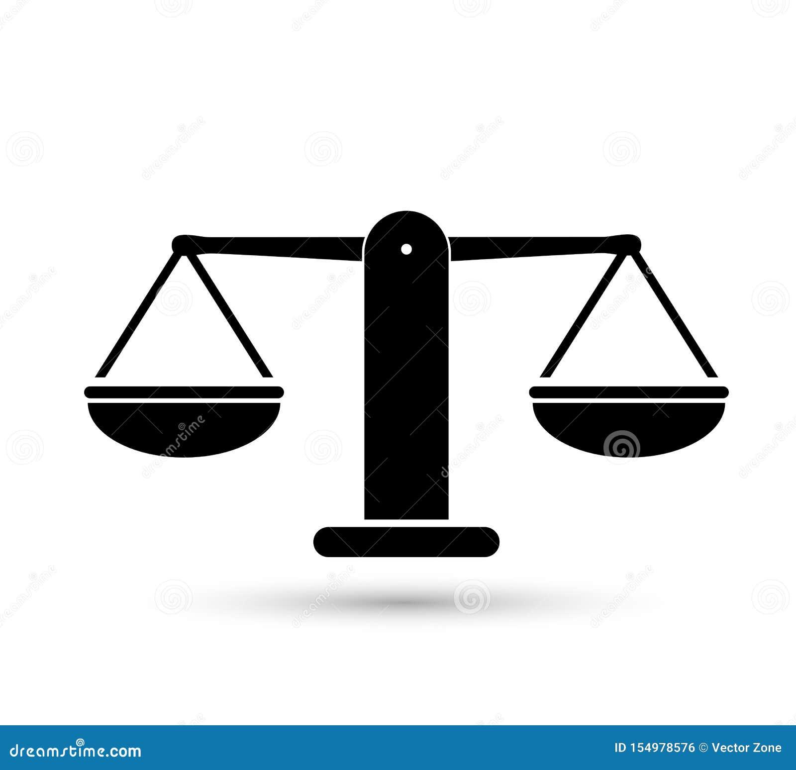 标度重量或正义标度例证传染媒介象