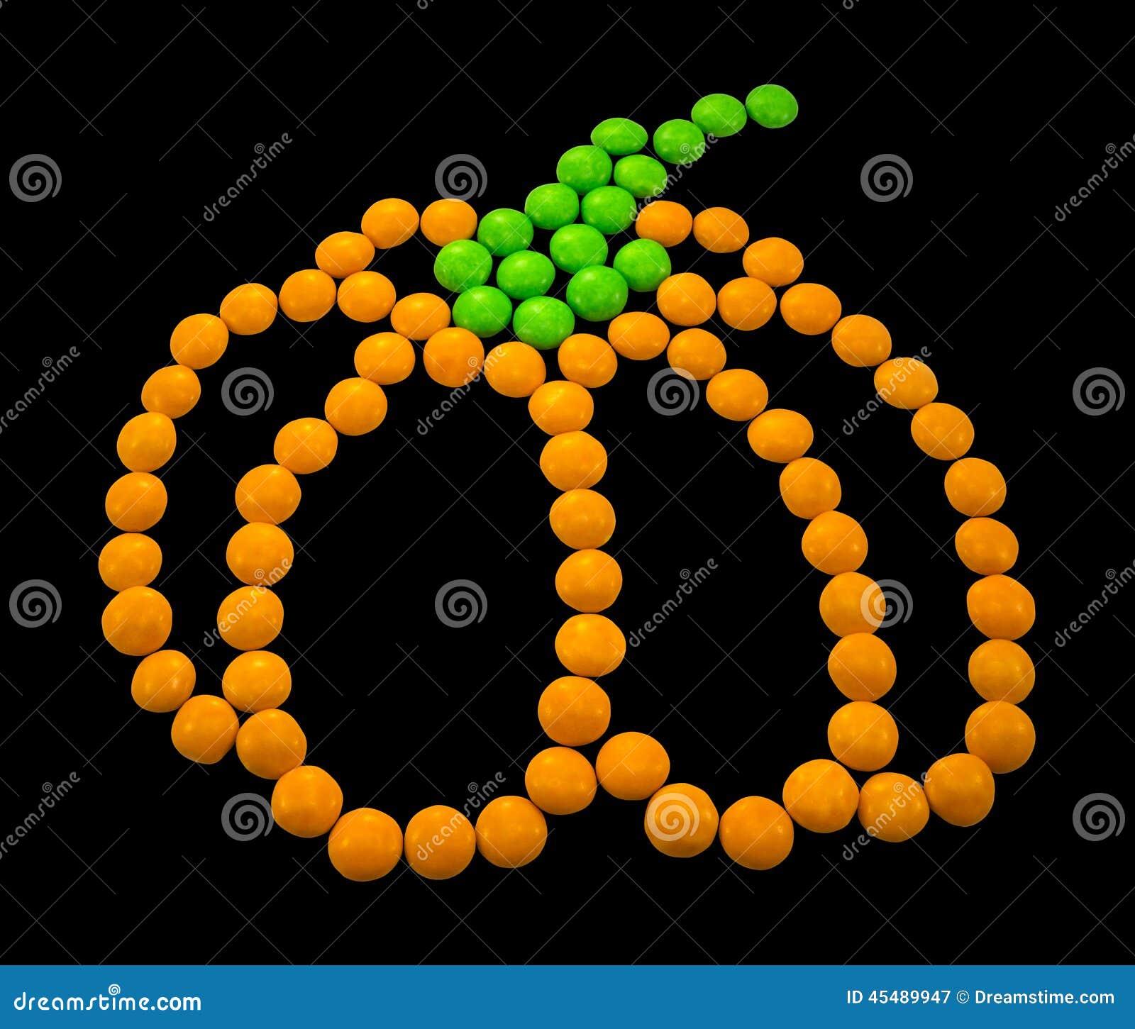 标志万圣夜-南瓜 组成由小圆的糖果
