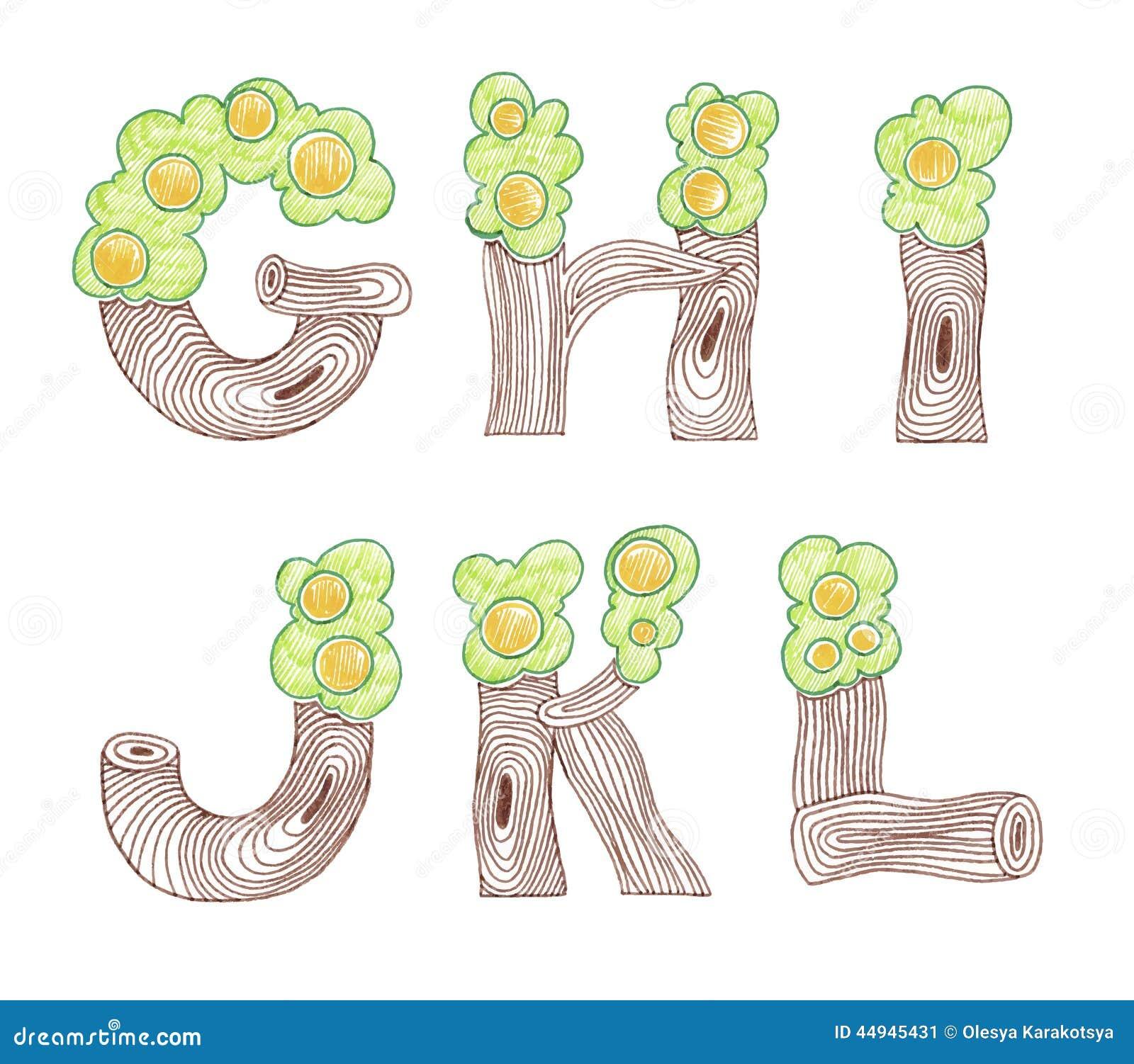 标志乱画eco英语字母表图片