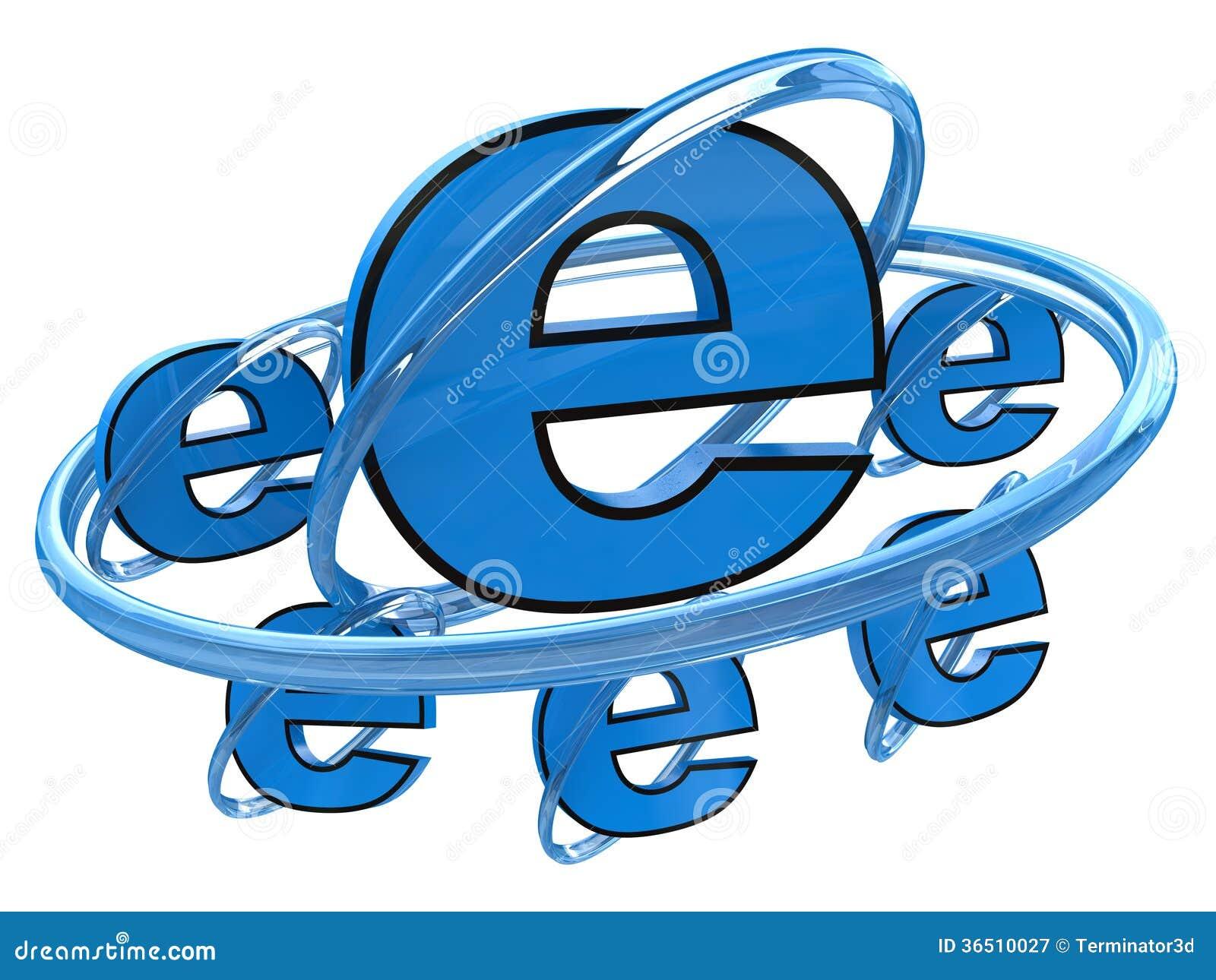 标志互联网背景