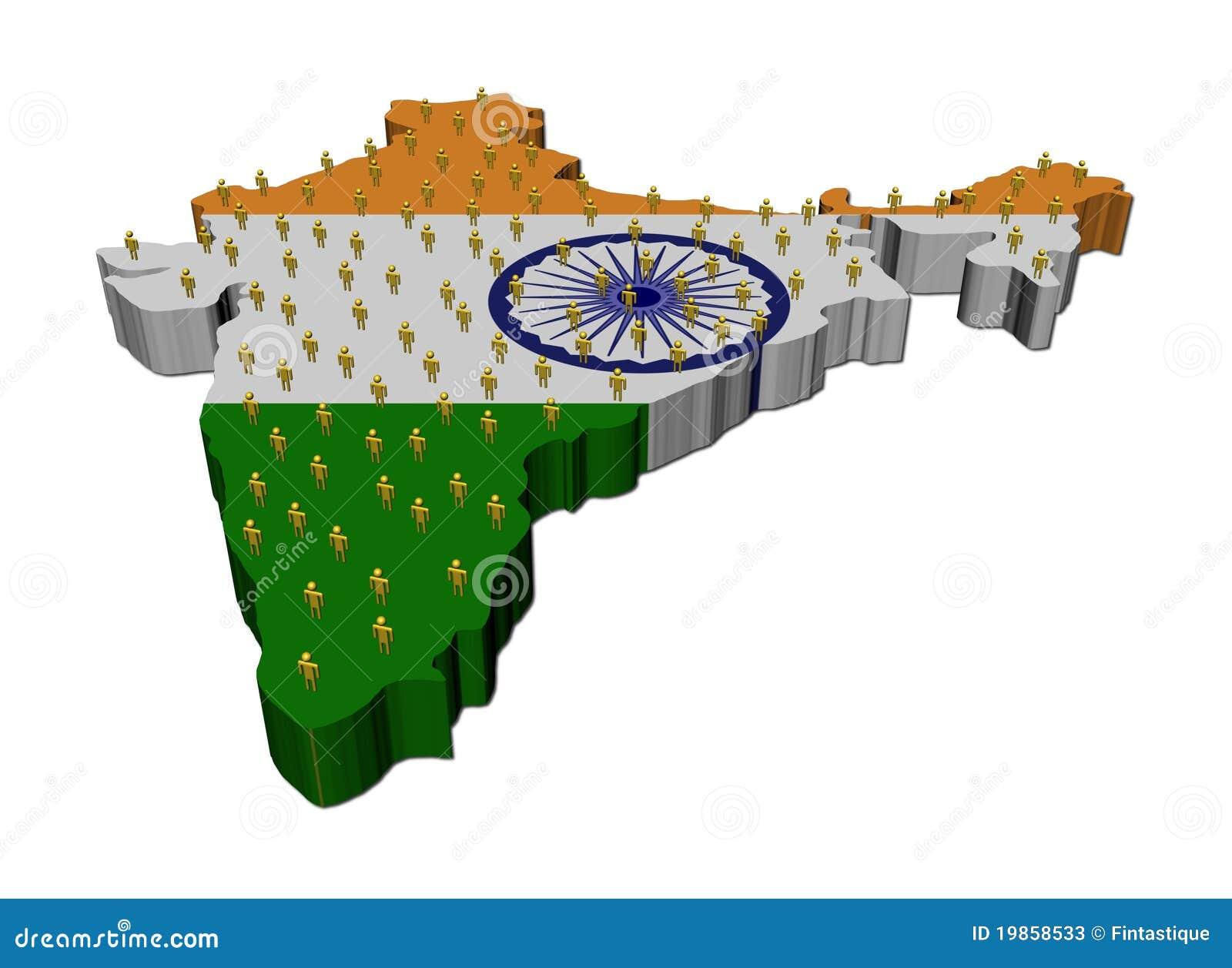 标志印度映射人