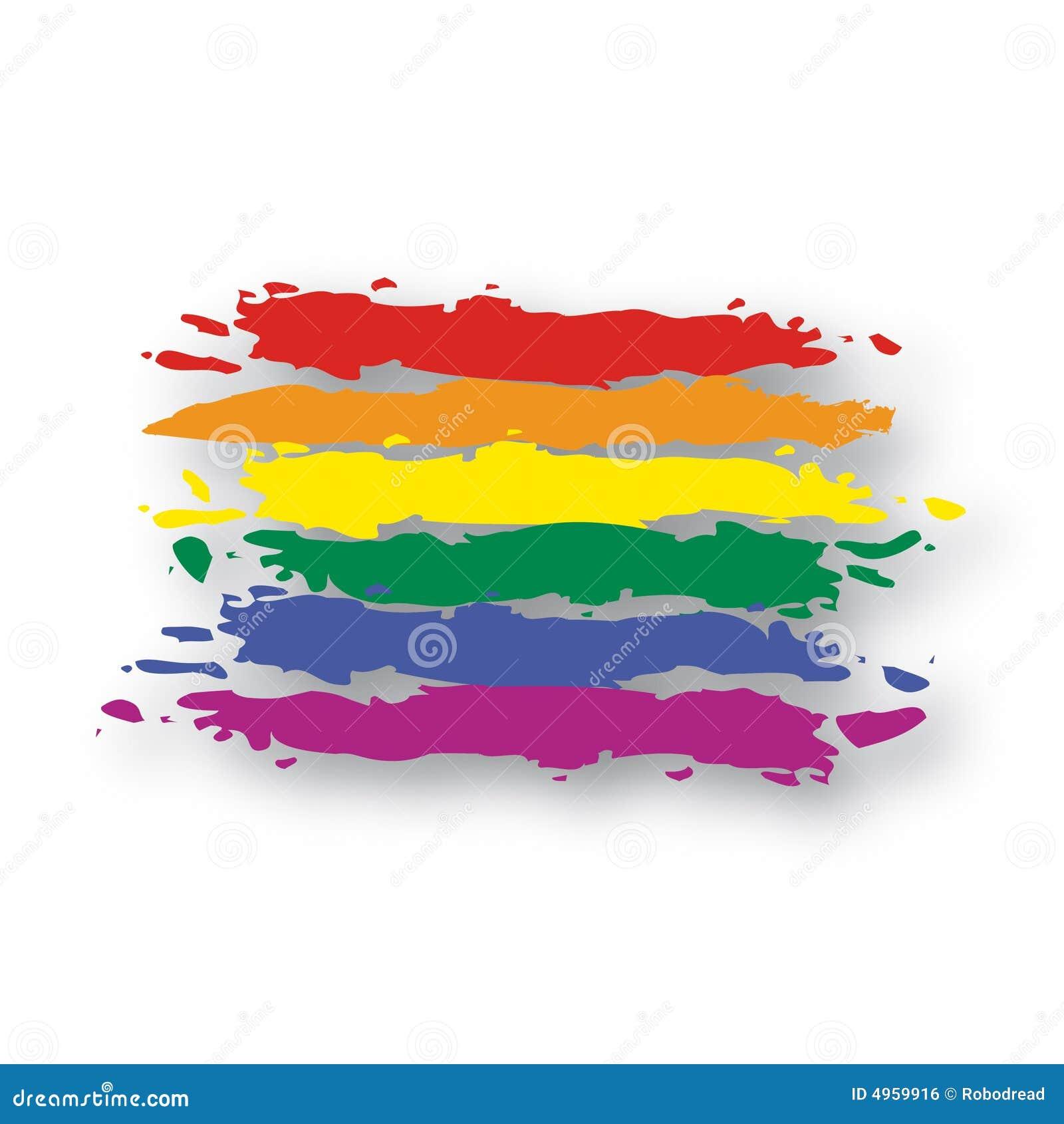 标志彩虹向量