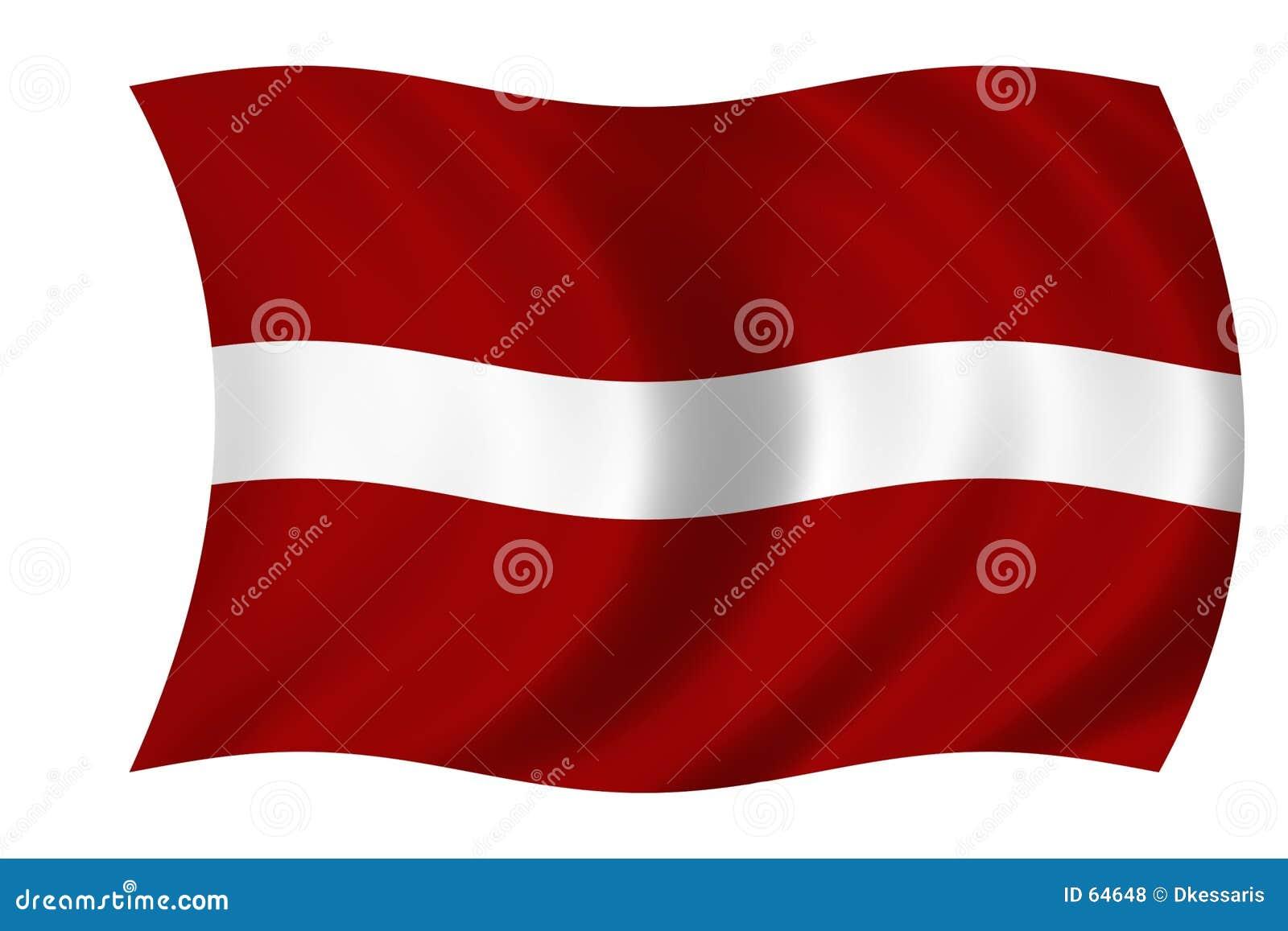 标志拉脱维亚