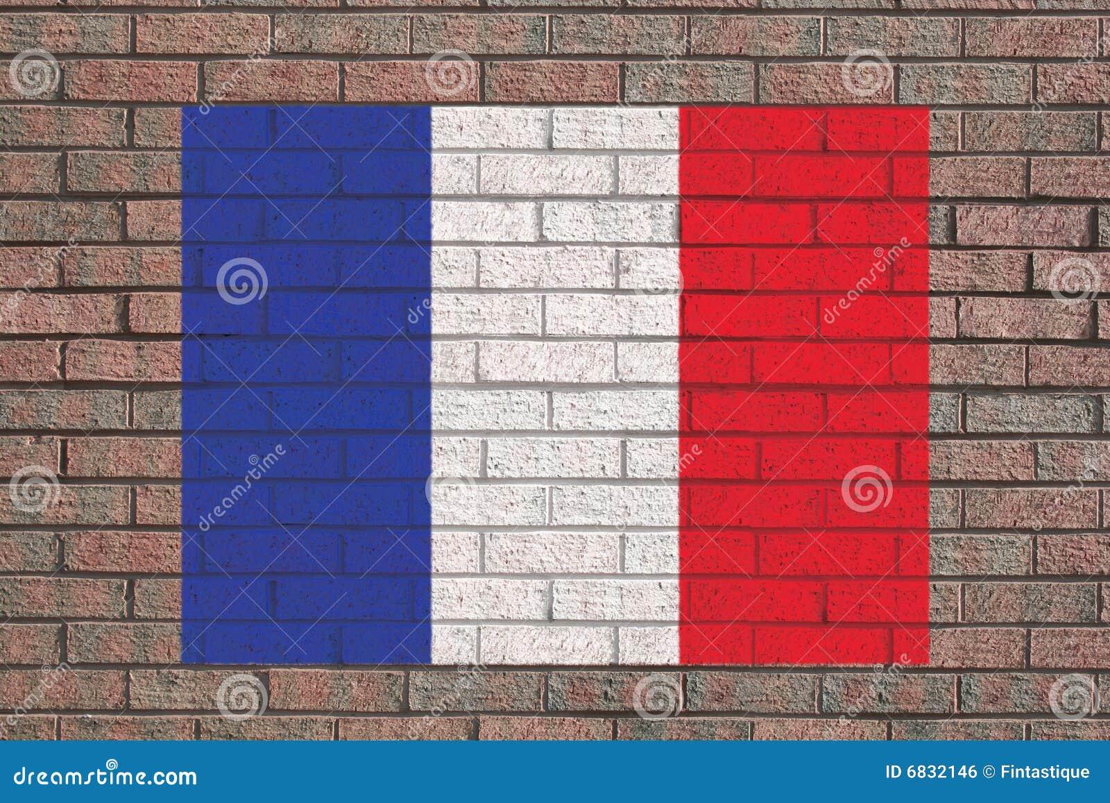 标志法语墙壁