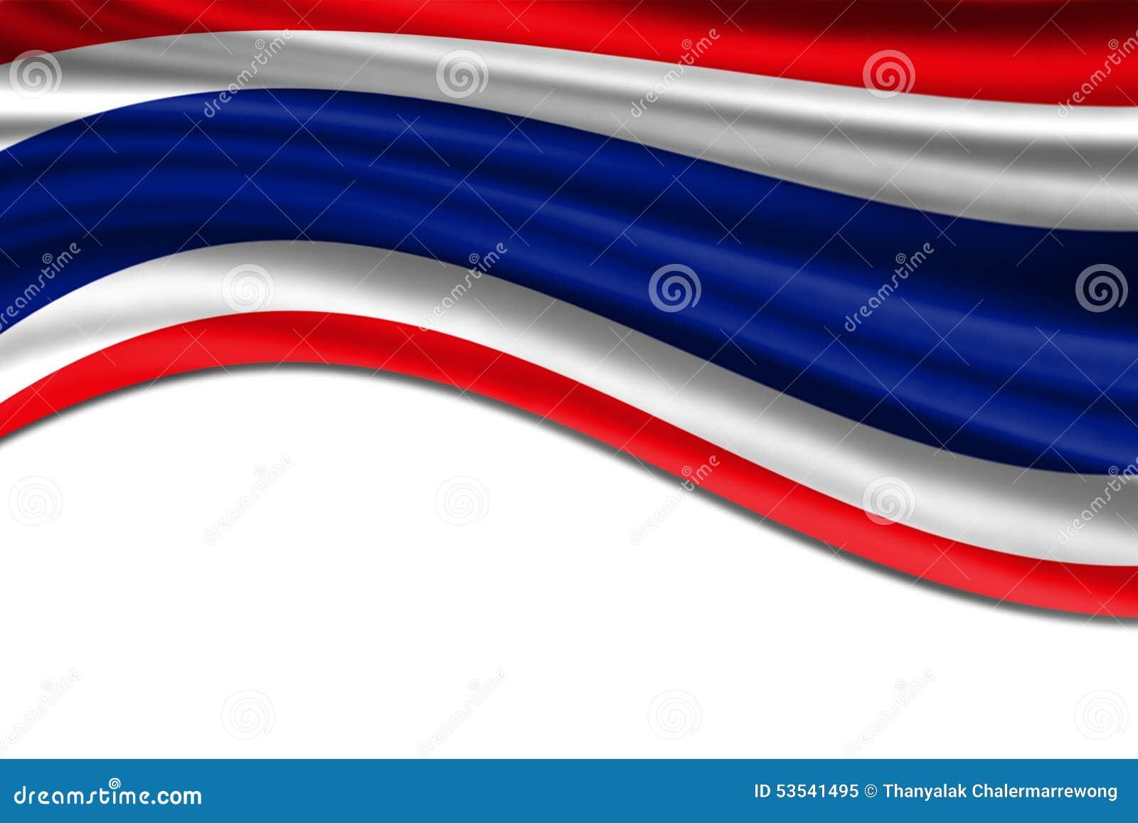 标志泰国挥动