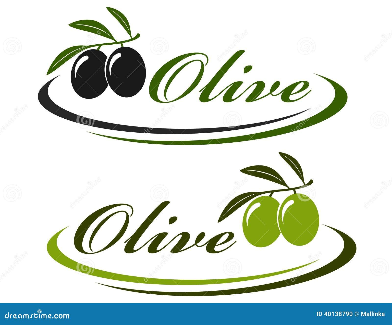 向量例证: 标志用橄榄