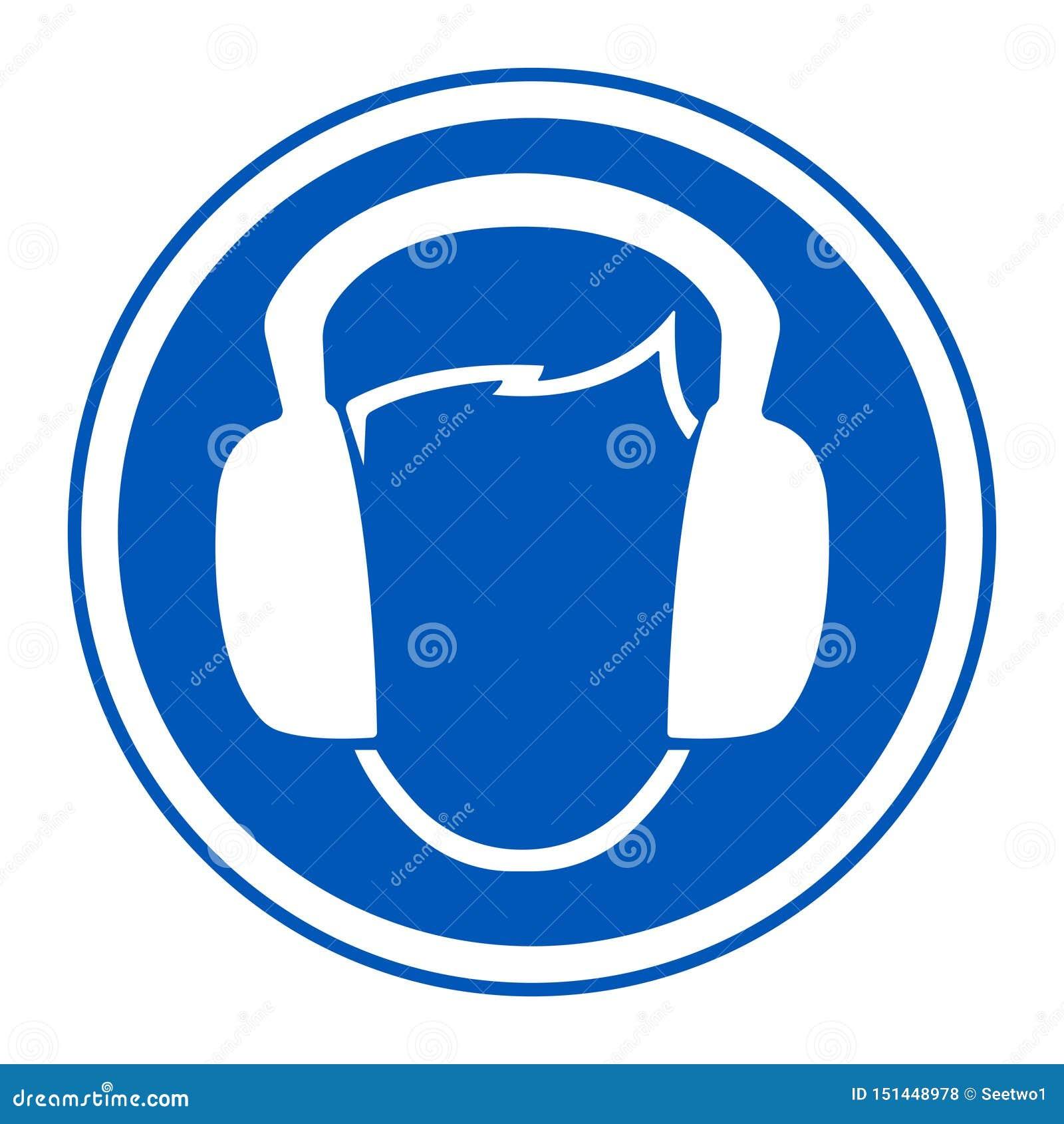 标志穿戴耳朵笨拙的人在白色背景,传染媒介例证EPS的标志孤立 10