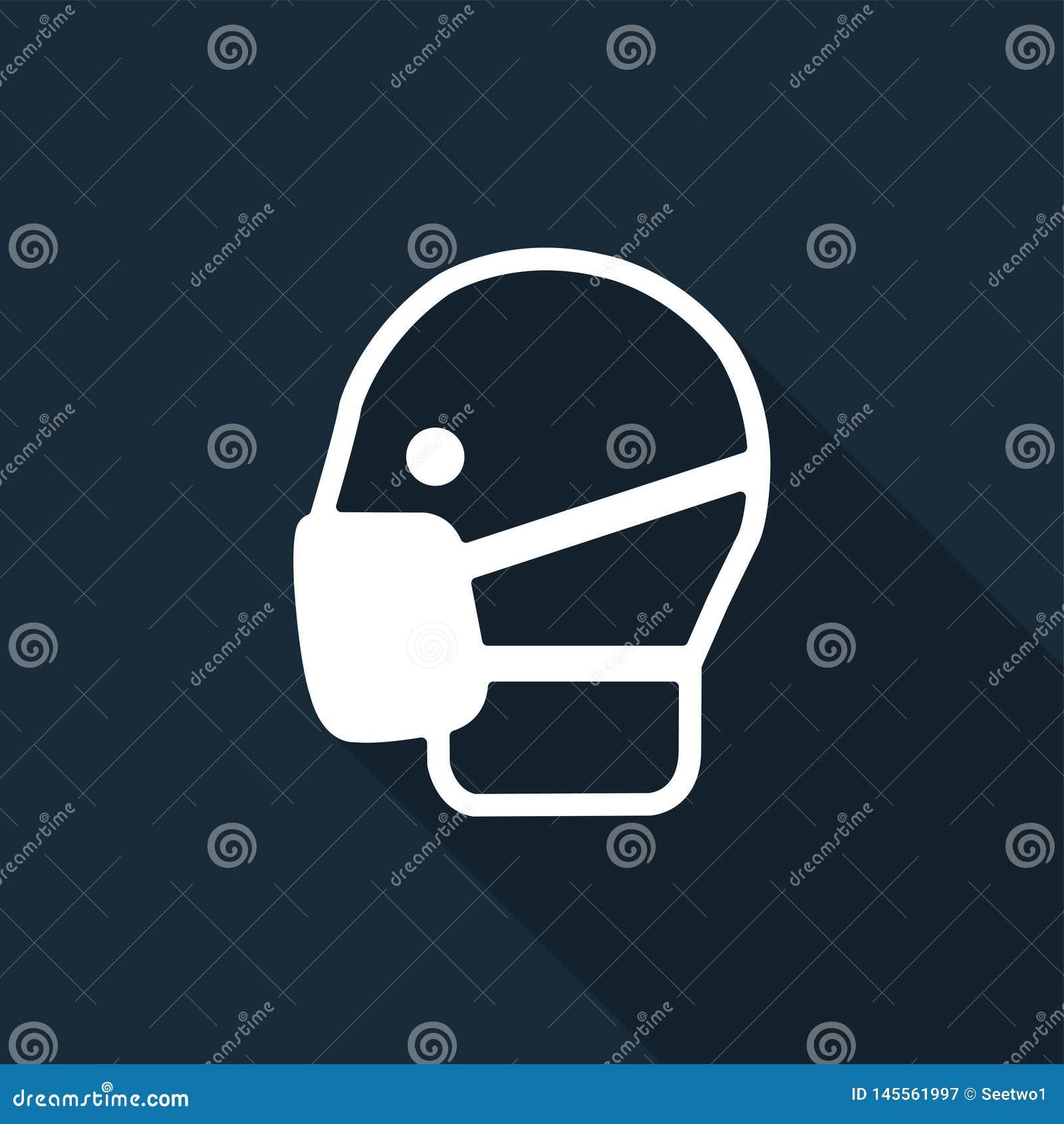 标志穿戴面具在黑背景,传染媒介例证签字
